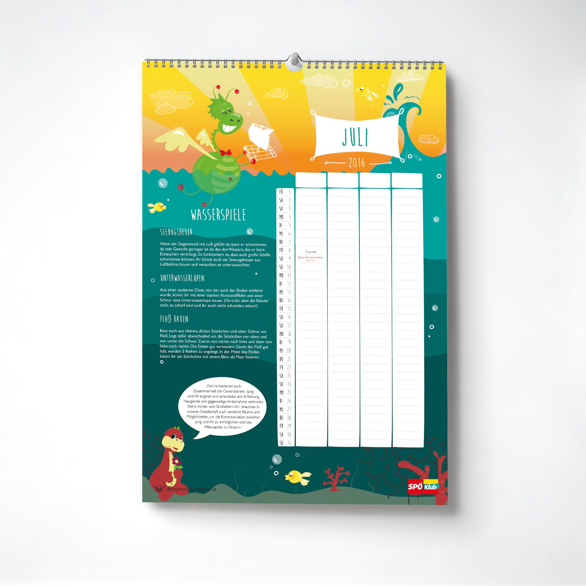 Family calendar 2016 on Behance