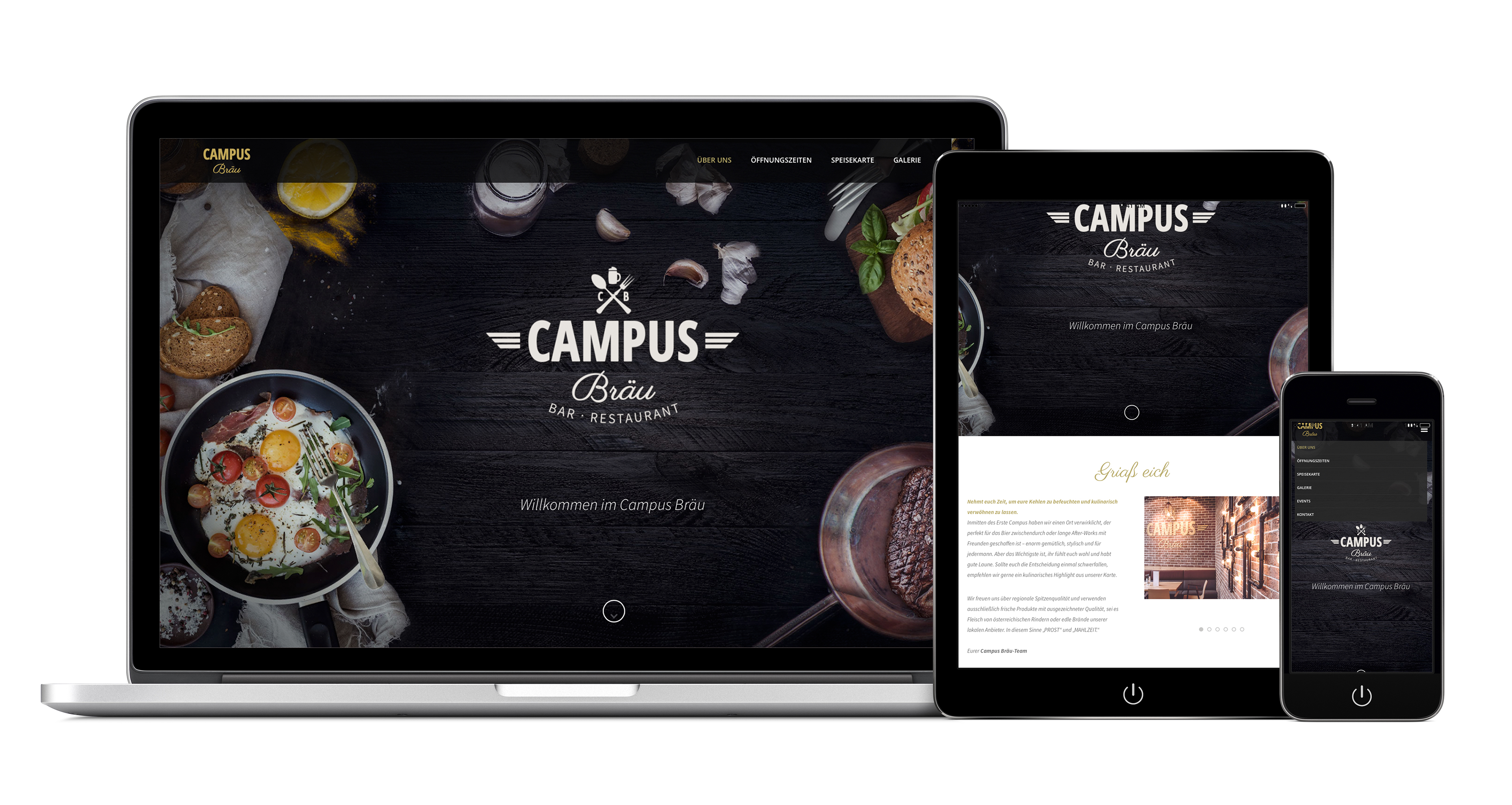Campus Bräu Bar Restaurant On Behance