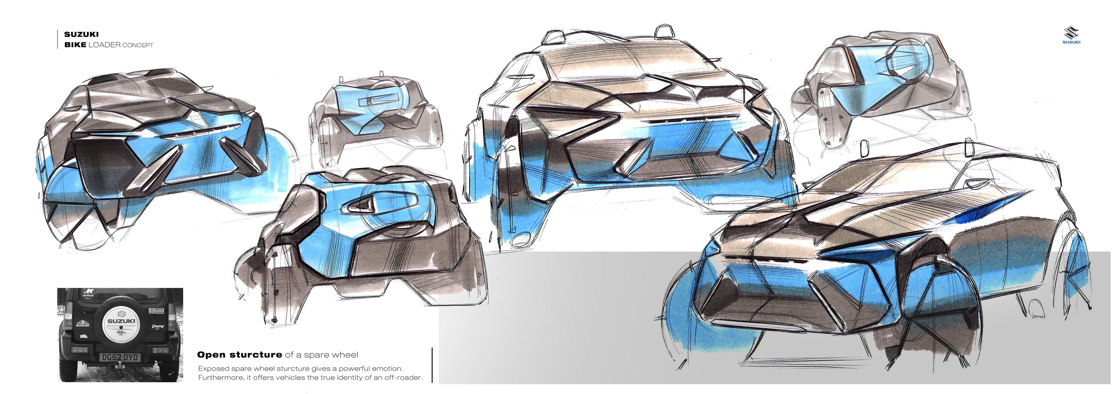 SUZUKI BIKE LOADER Concept on Behance