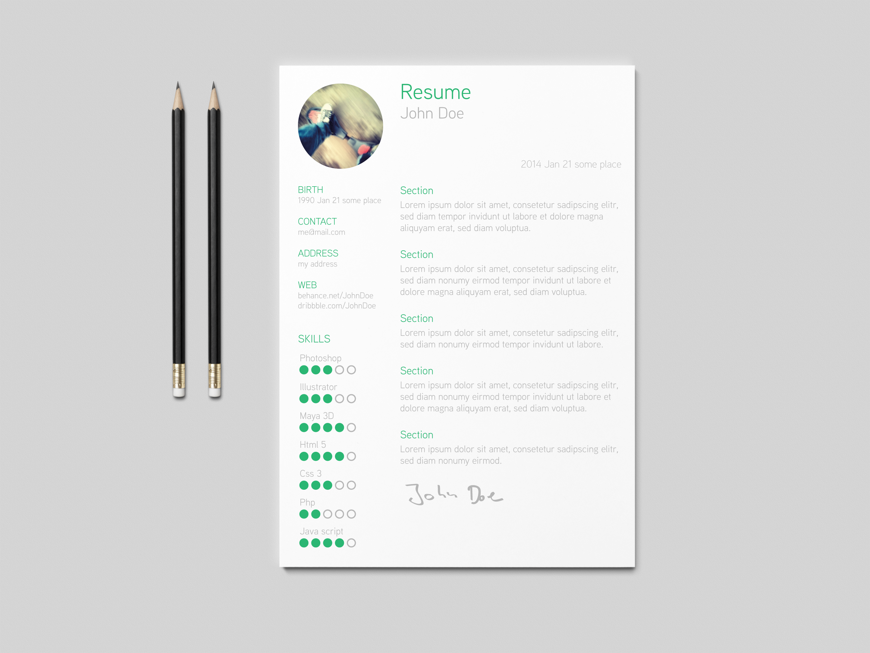 Free resume template on behance pronofoot35fo Images