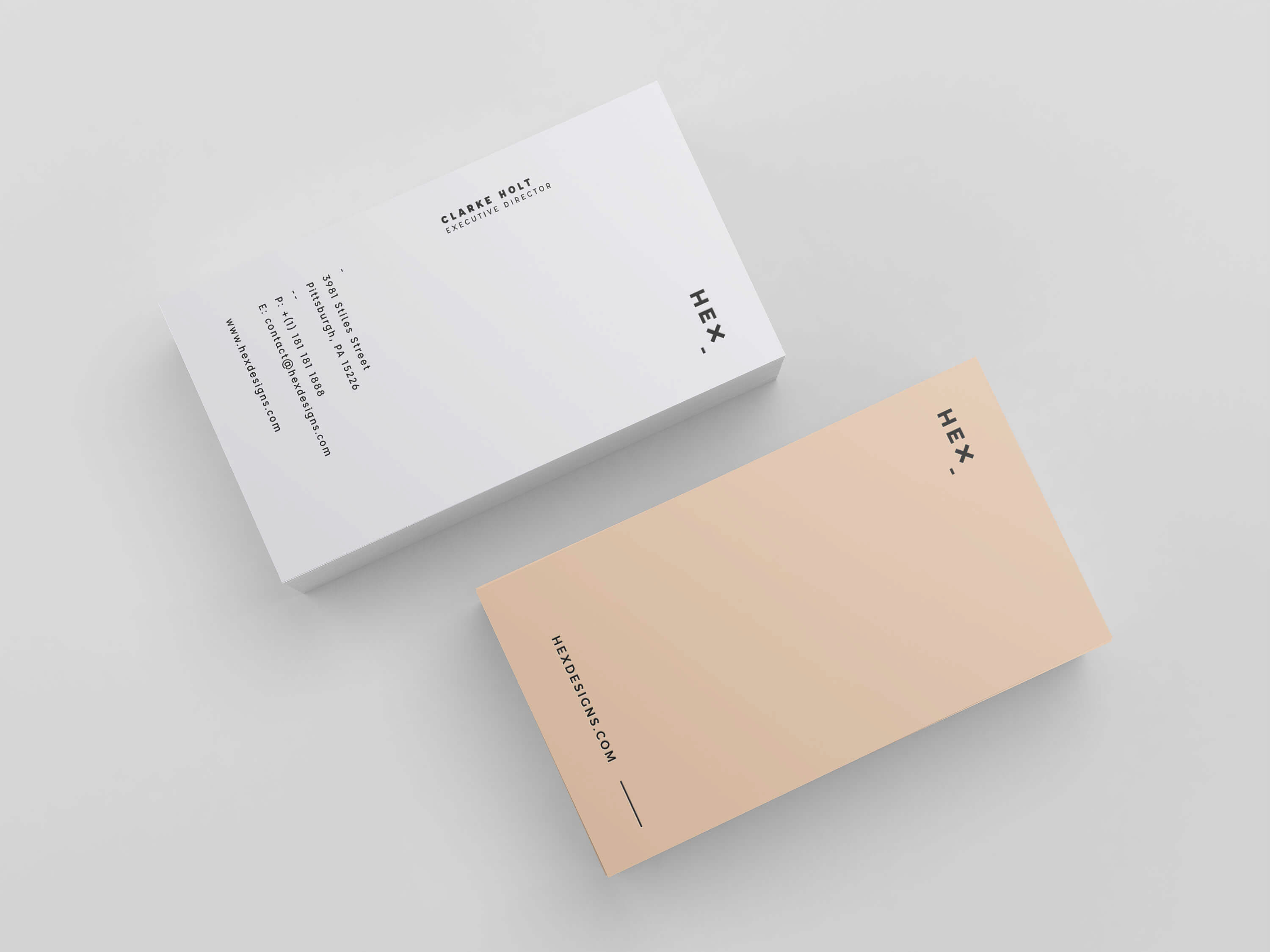 HEX Business Card Template on Behance