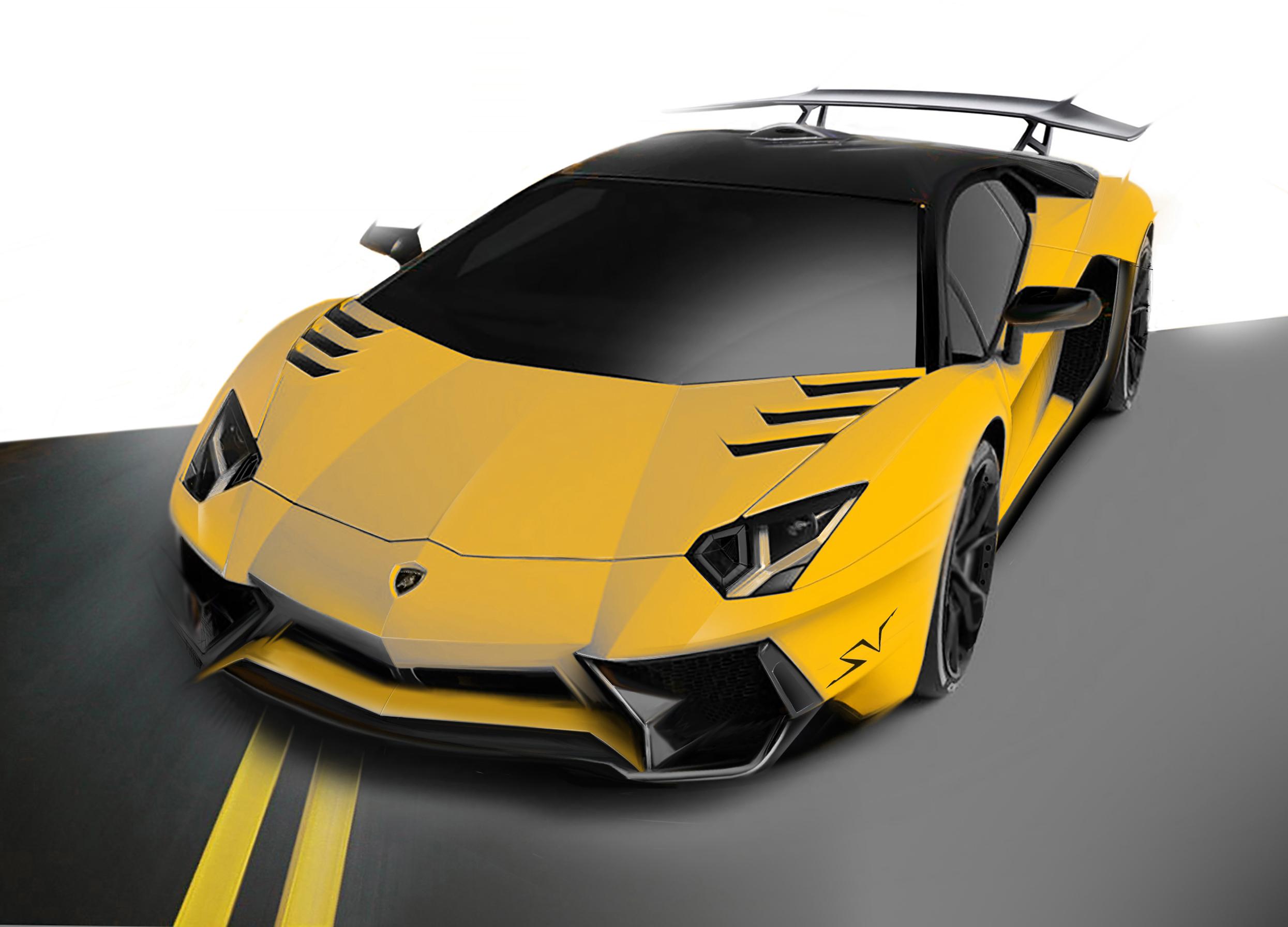 Lamborghini Aventador SV Ad Personam | Design Proposal on Behance