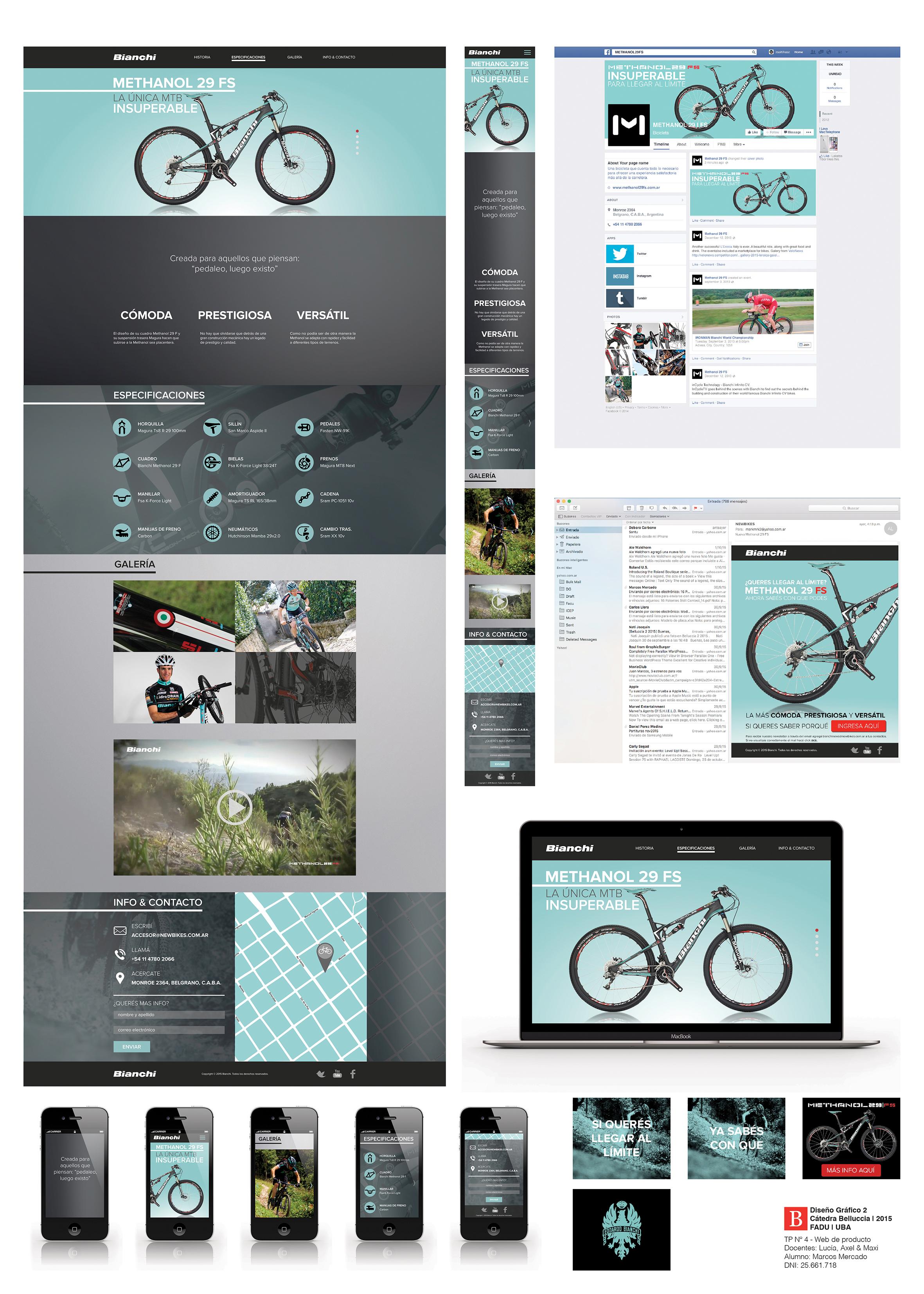 Diseño para web de producto on Behance