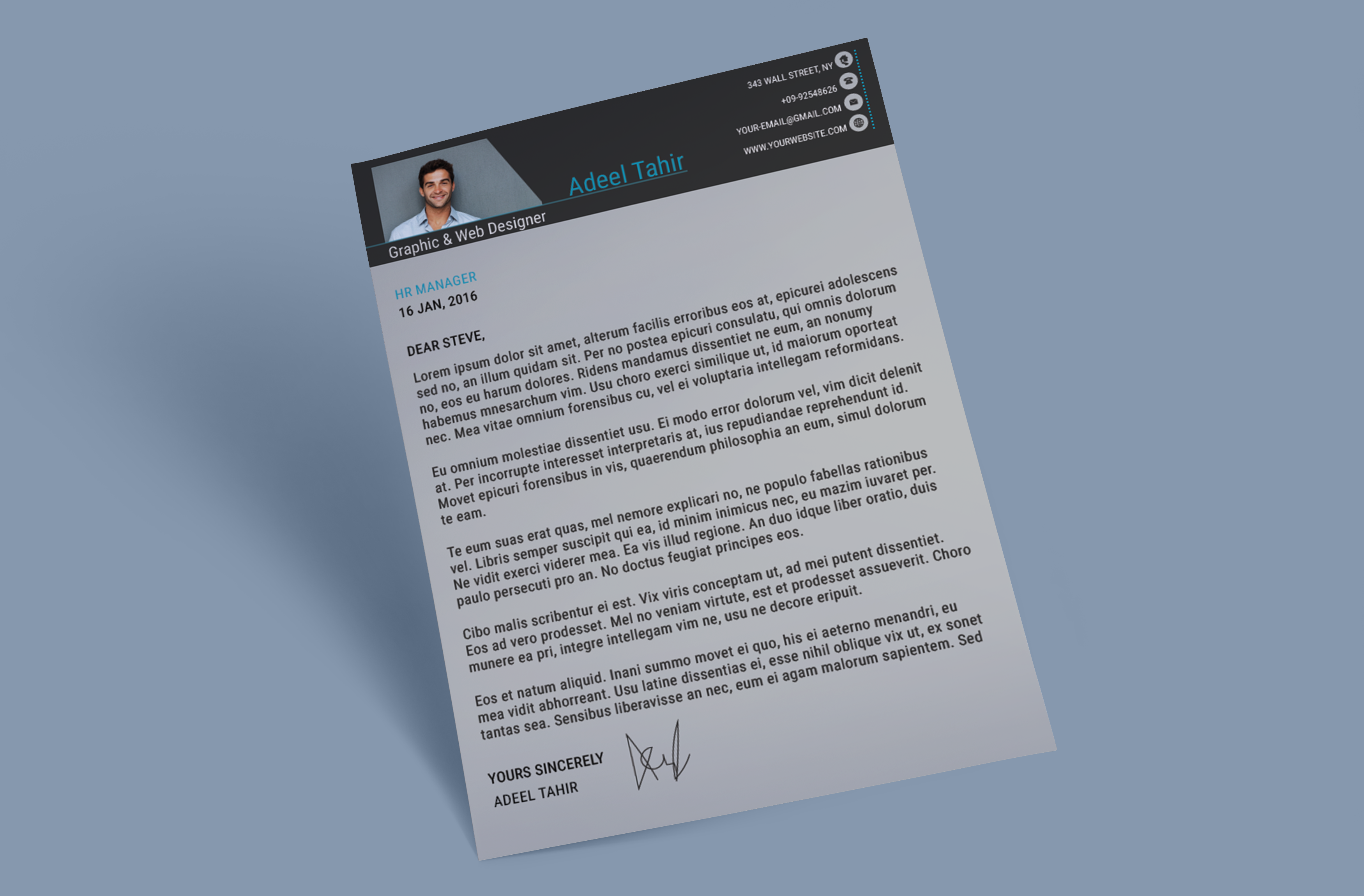 Resume and Cover Letter on Behance cover