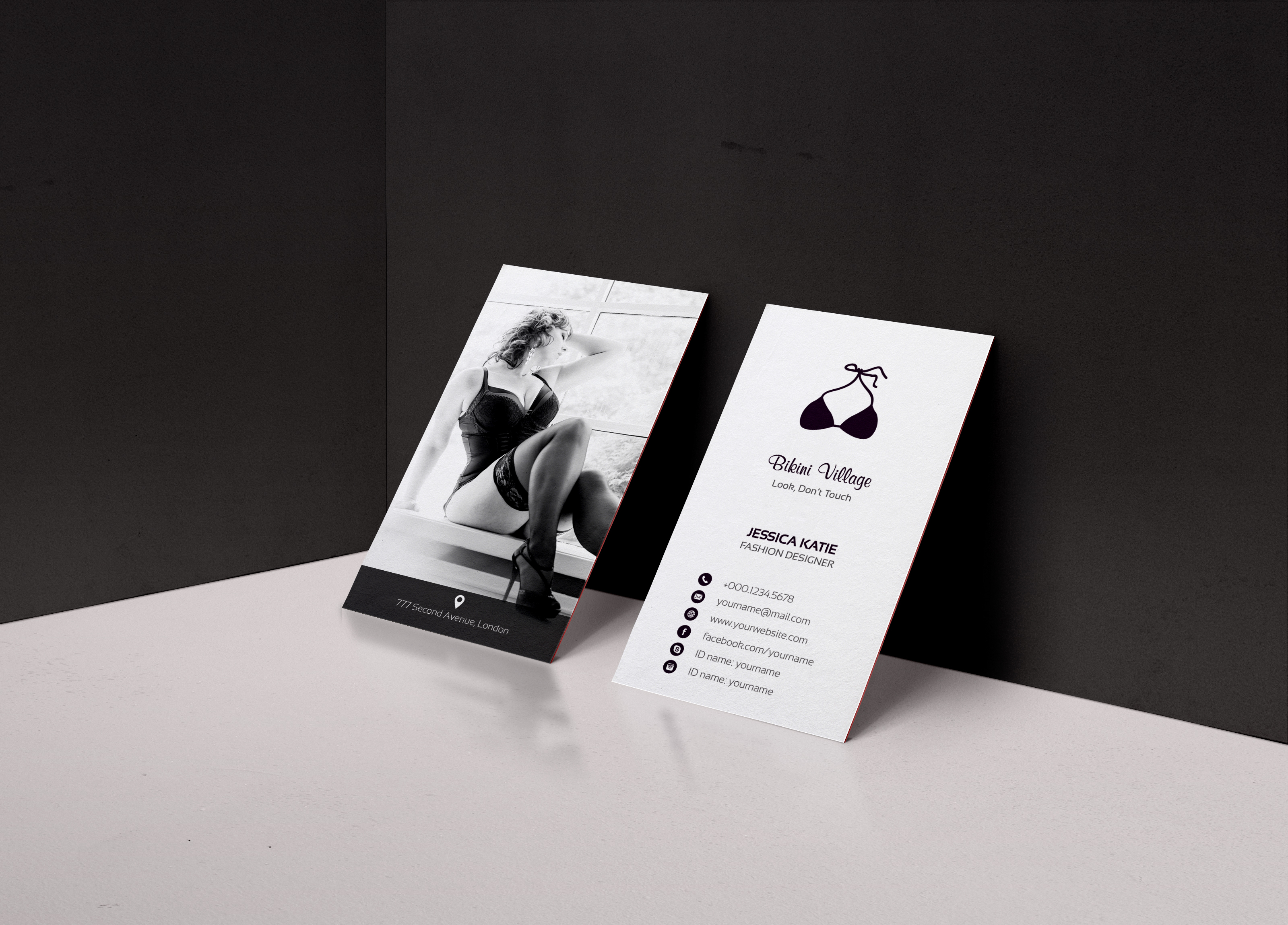 Lingerie business card on behance magicingreecefo Images