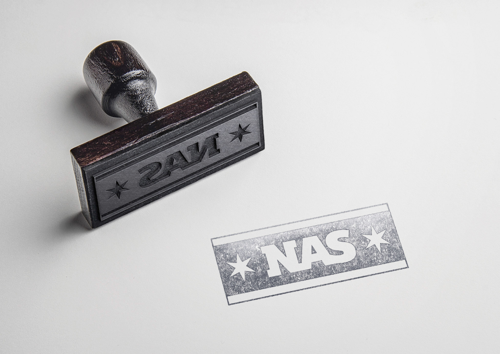 This is an image of the shorthand logo mocked up as a rubber stamp.