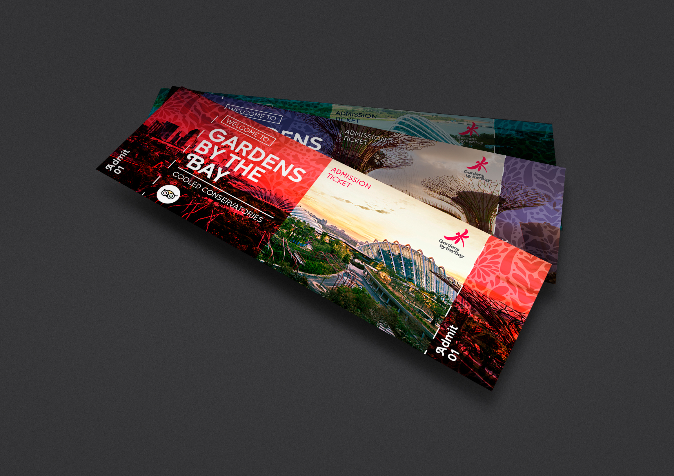 Garden By The Bay Admission Ticket gardensthe bay ticket on behance