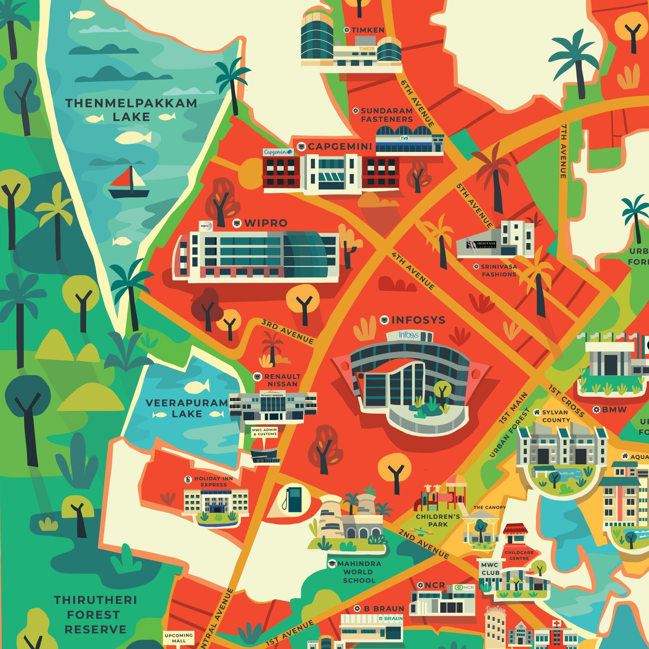 Mahindra world city map illustration on behance gumiabroncs Images