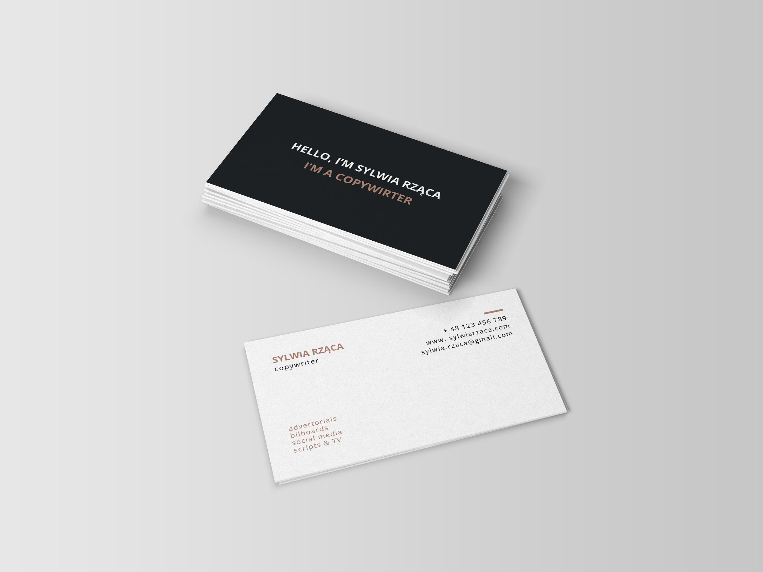 anna kleszczewska - Copywriter\'s bussines card