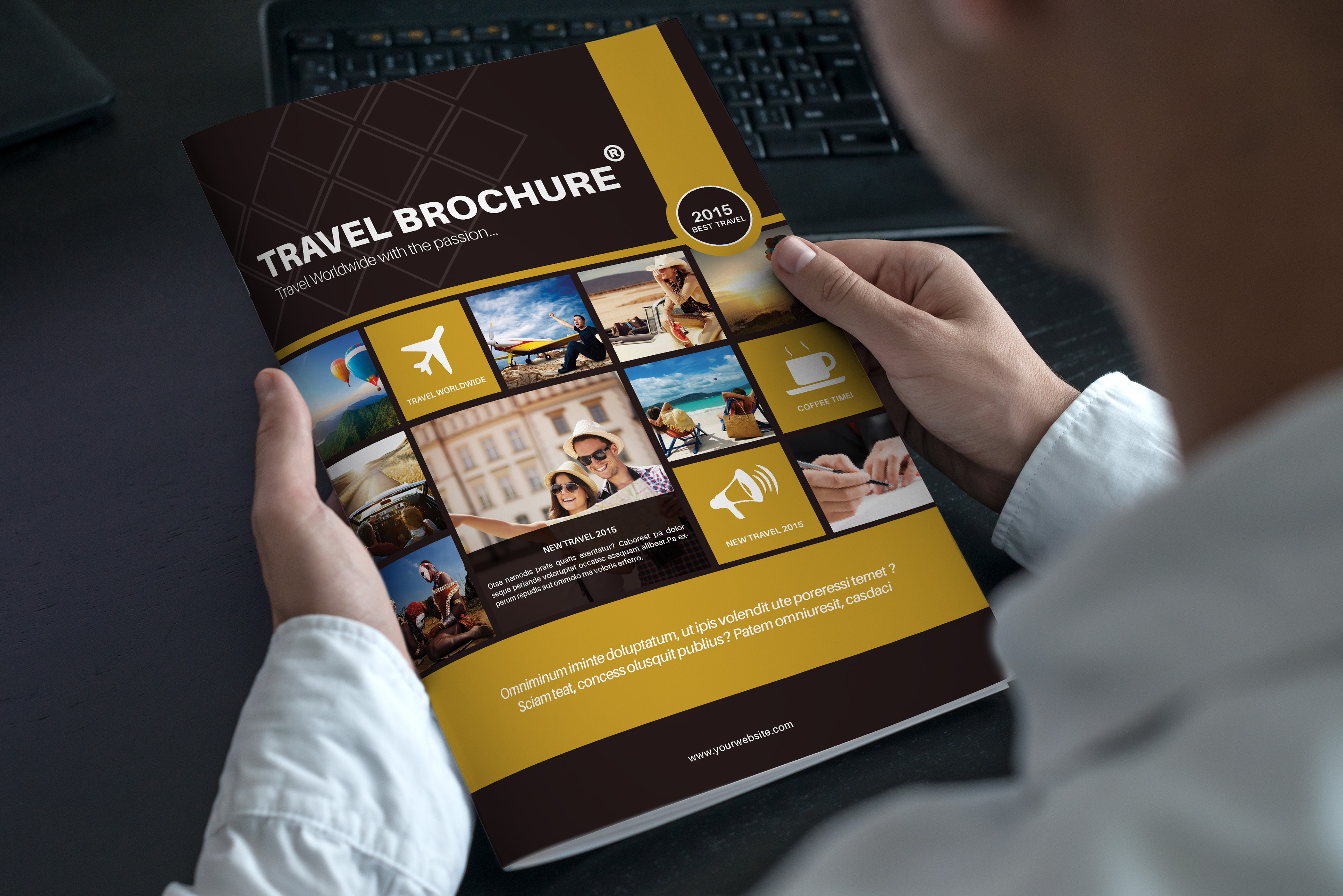 Travel Brochure Template A BiFold On Behance - Traveling brochure templates