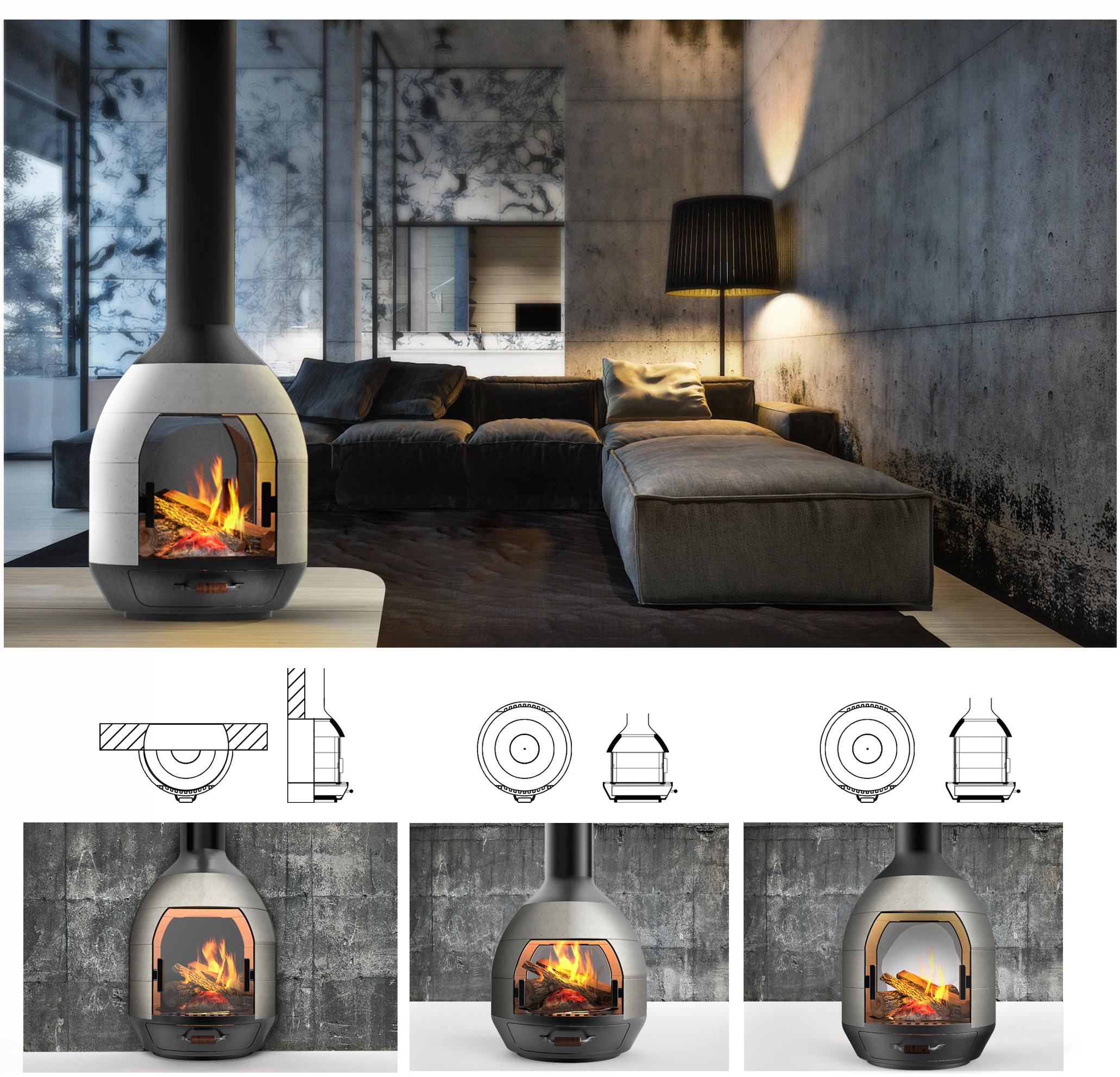 igloo fireplace on behance