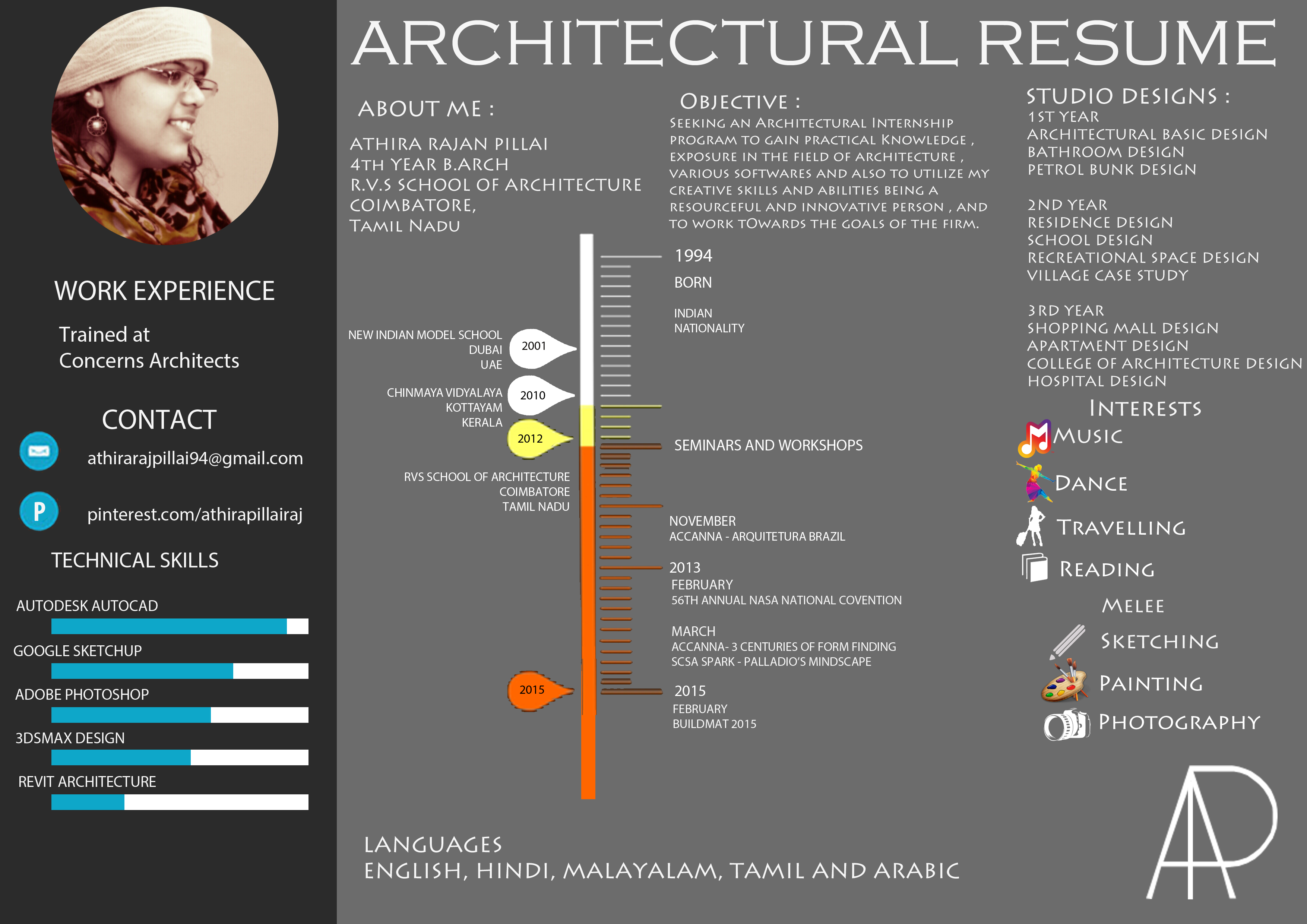 architectural resume on behance