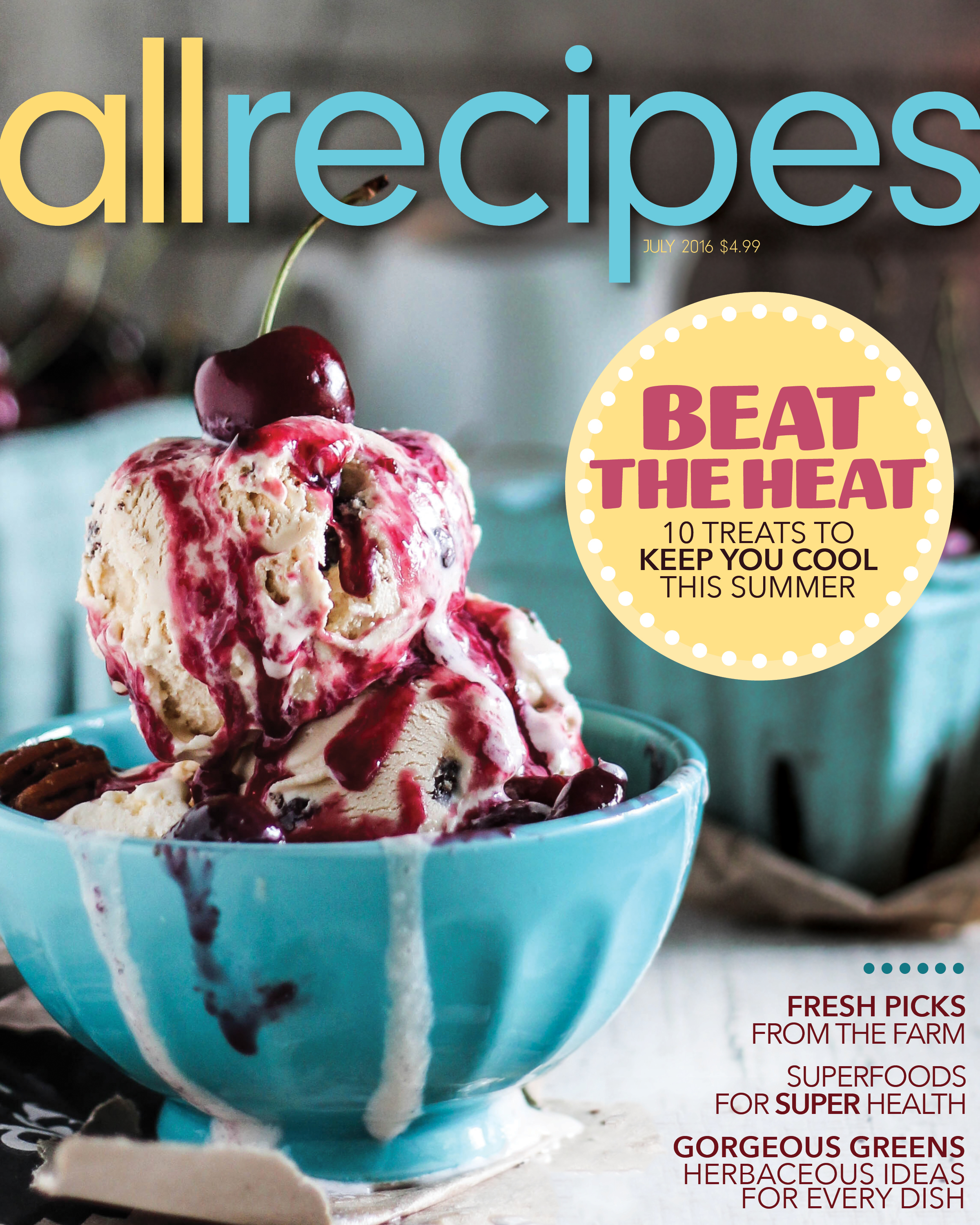 AllRecipes Magazine Redesign on Behance