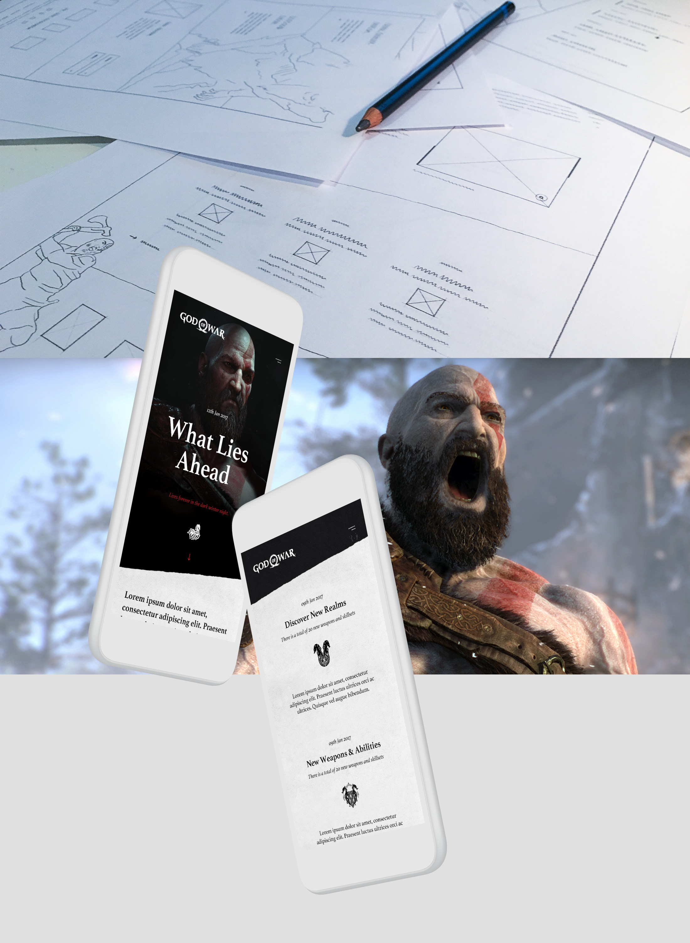 Web Design & UI/UX for the God of War 4 game