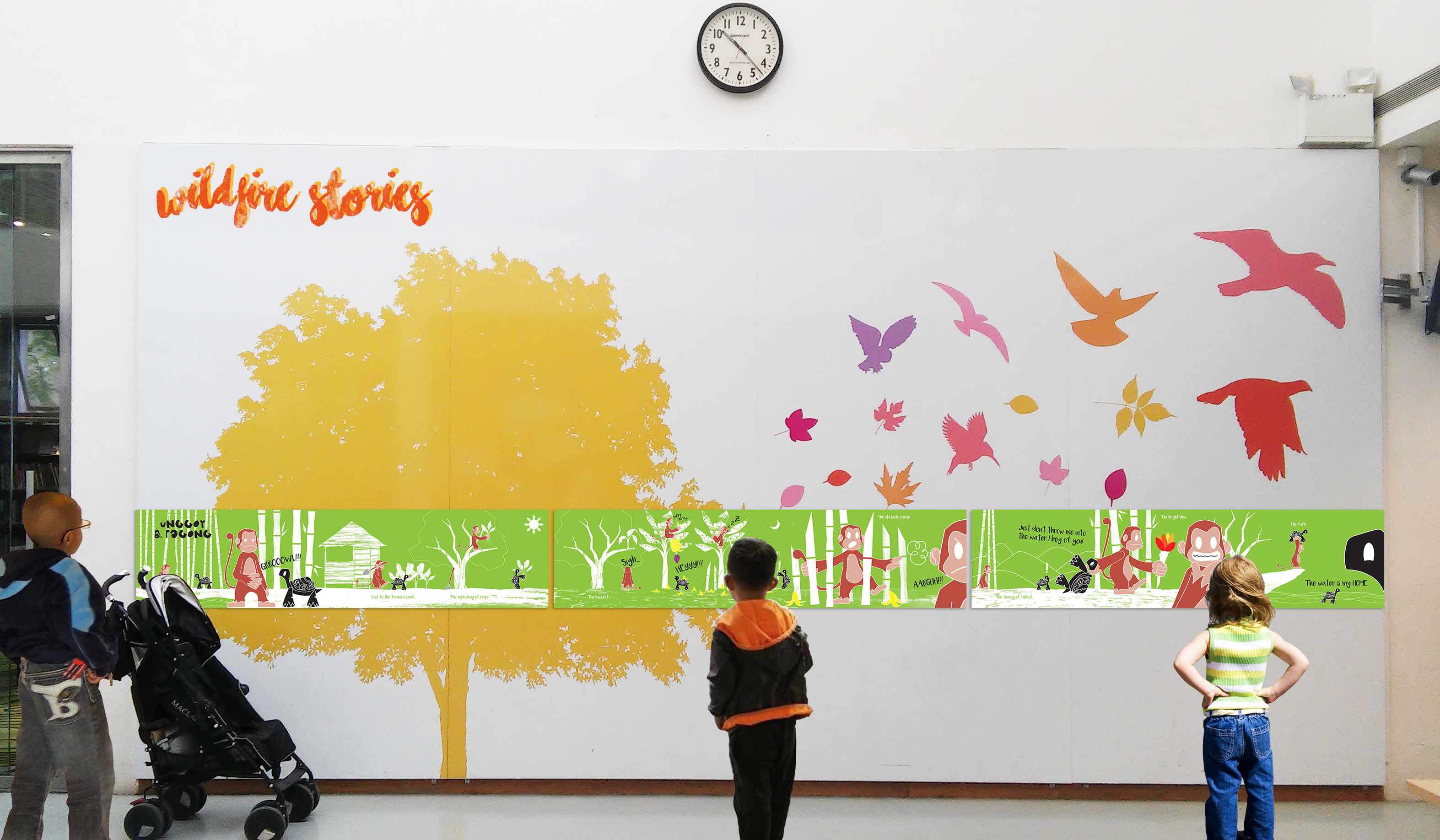 Unggoy & Pagong\' - Filipino Folktale Mural on Behance