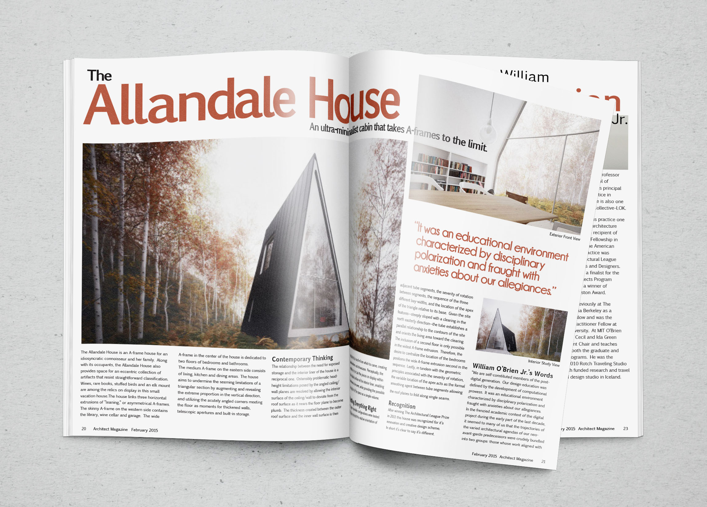 Allendale Magazine Article. Magazine Article For An A Frame House Designed  By William Ou0027Brien.