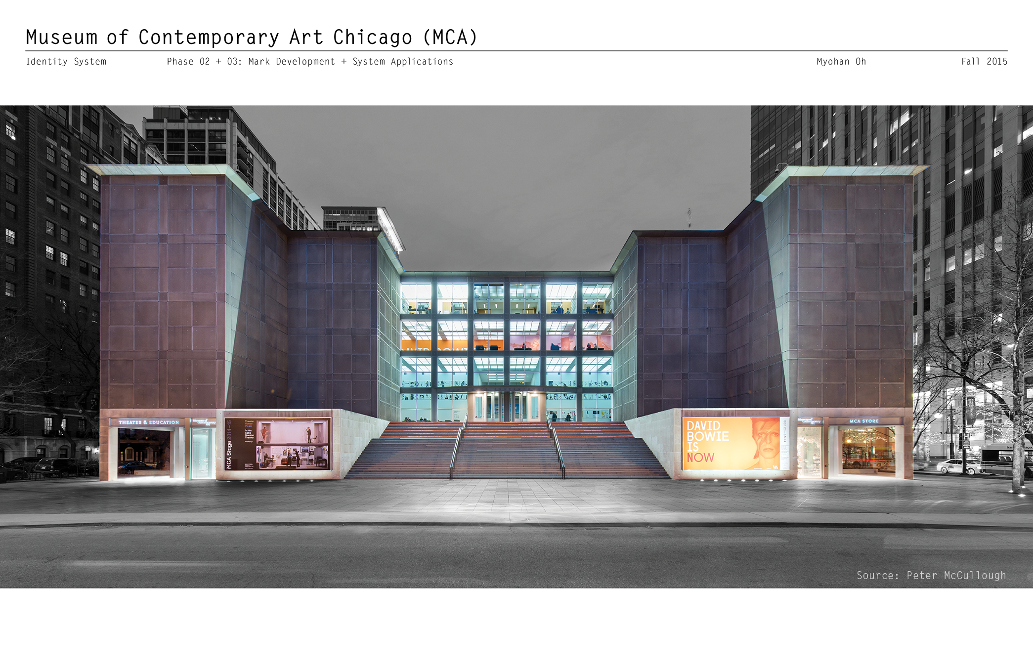Museum Of Contemporary Art Chicago Identity System On Behance