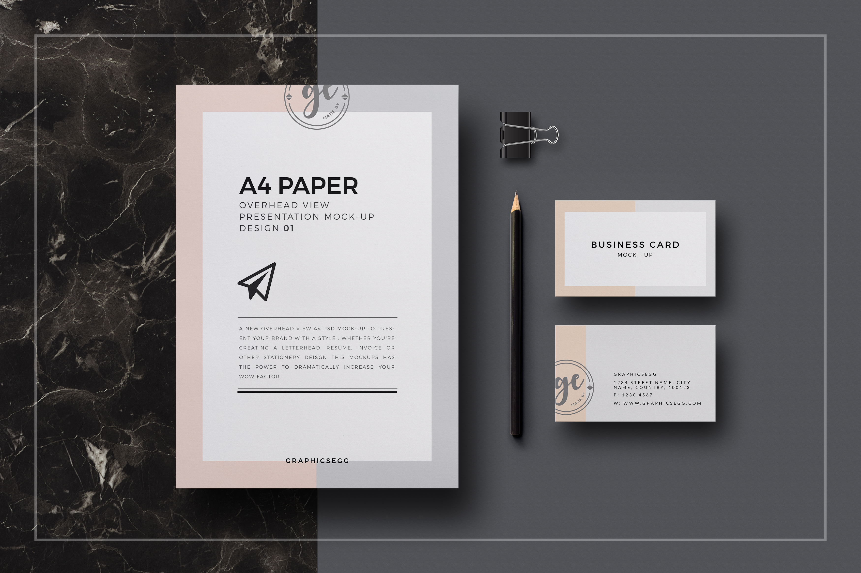 A4 paper overhead view mockup free psd on Behance
