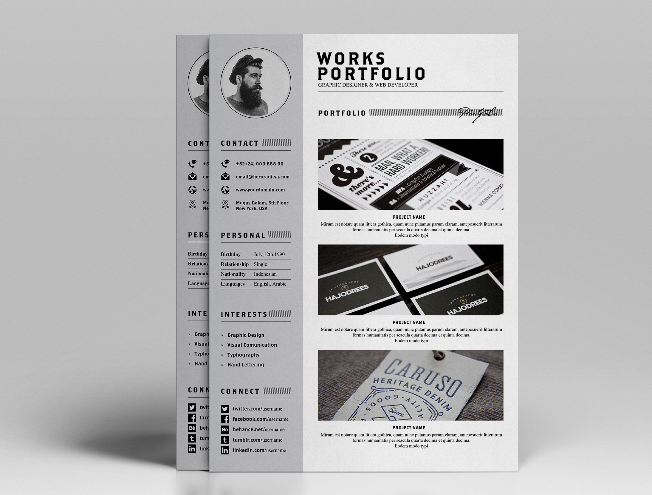 Free  Ya Resume Letter  Portfolio On Behance