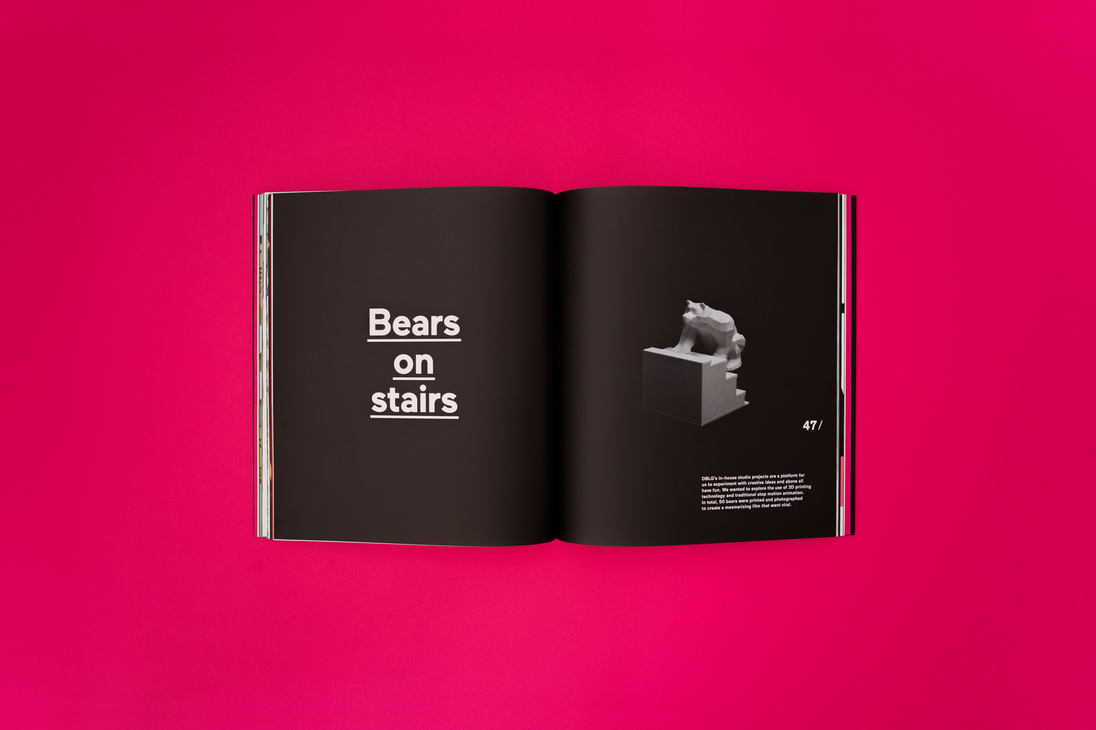 The DBLG Book On Behance - 3d printed stop motion animation bear stairs