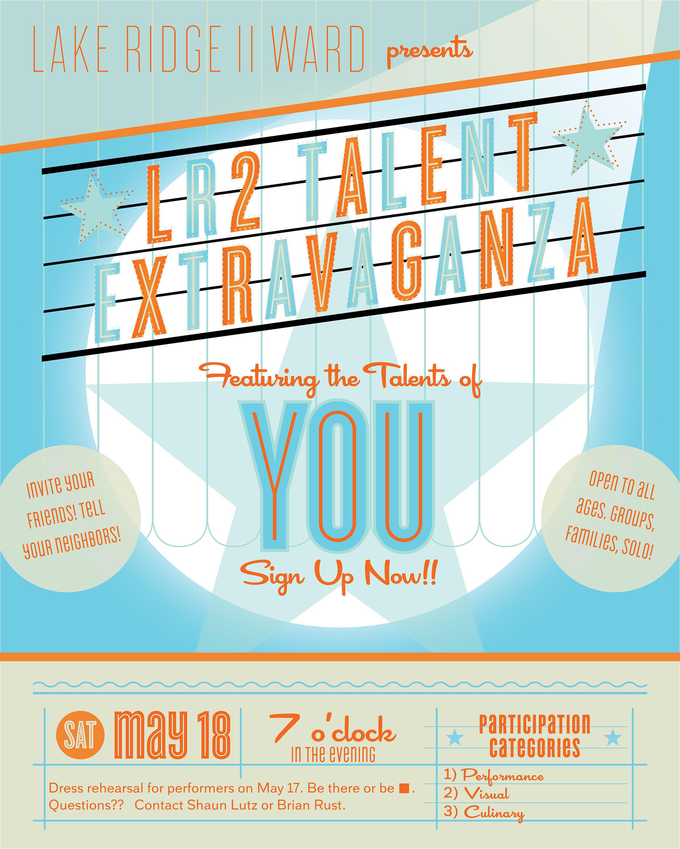 Poster design program - Poster Design For Lake Ridge Va Church Talent Program