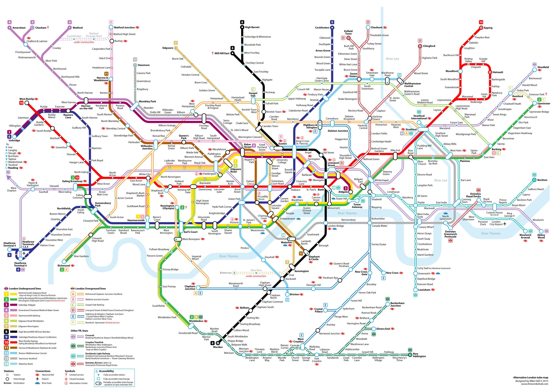 Metro Map 2016.Alternative 2015 Tube Map Design On Behance
