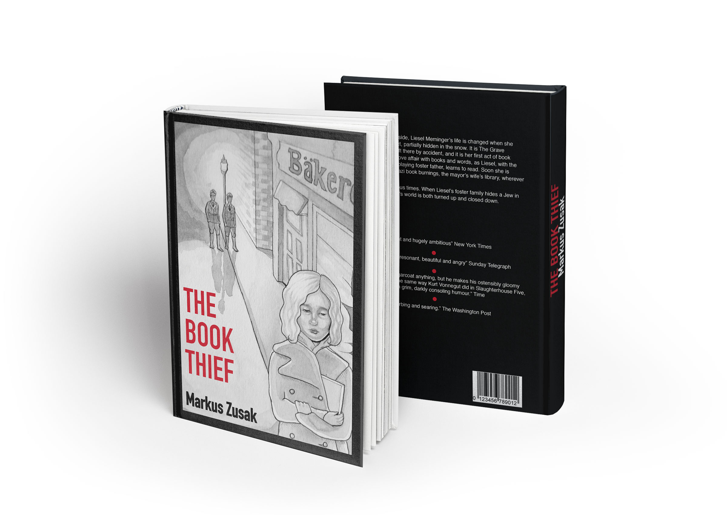 book cover design the book thief on