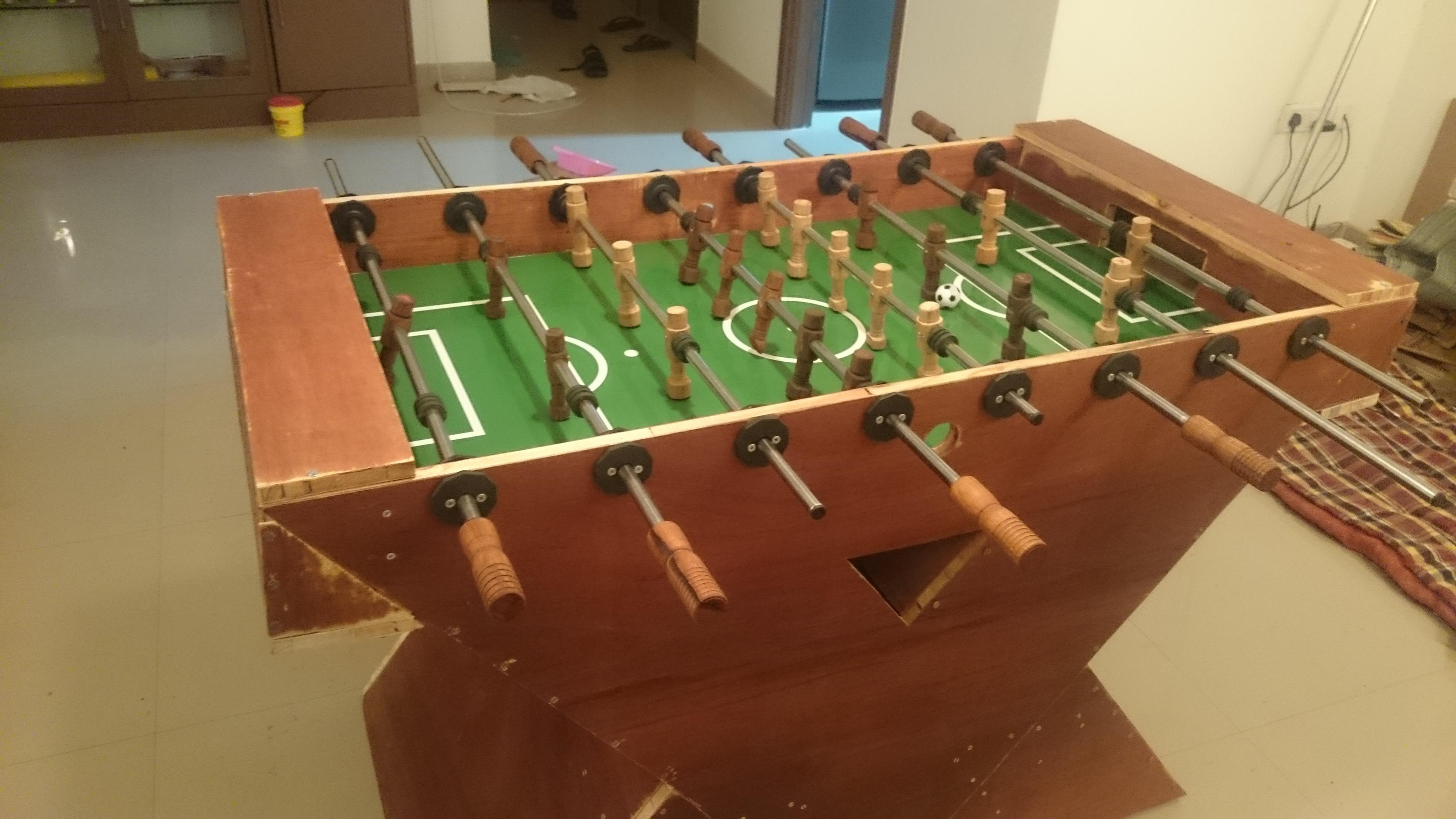 Handmade Wooden Foosball Table On Behance - Regulation foosball table