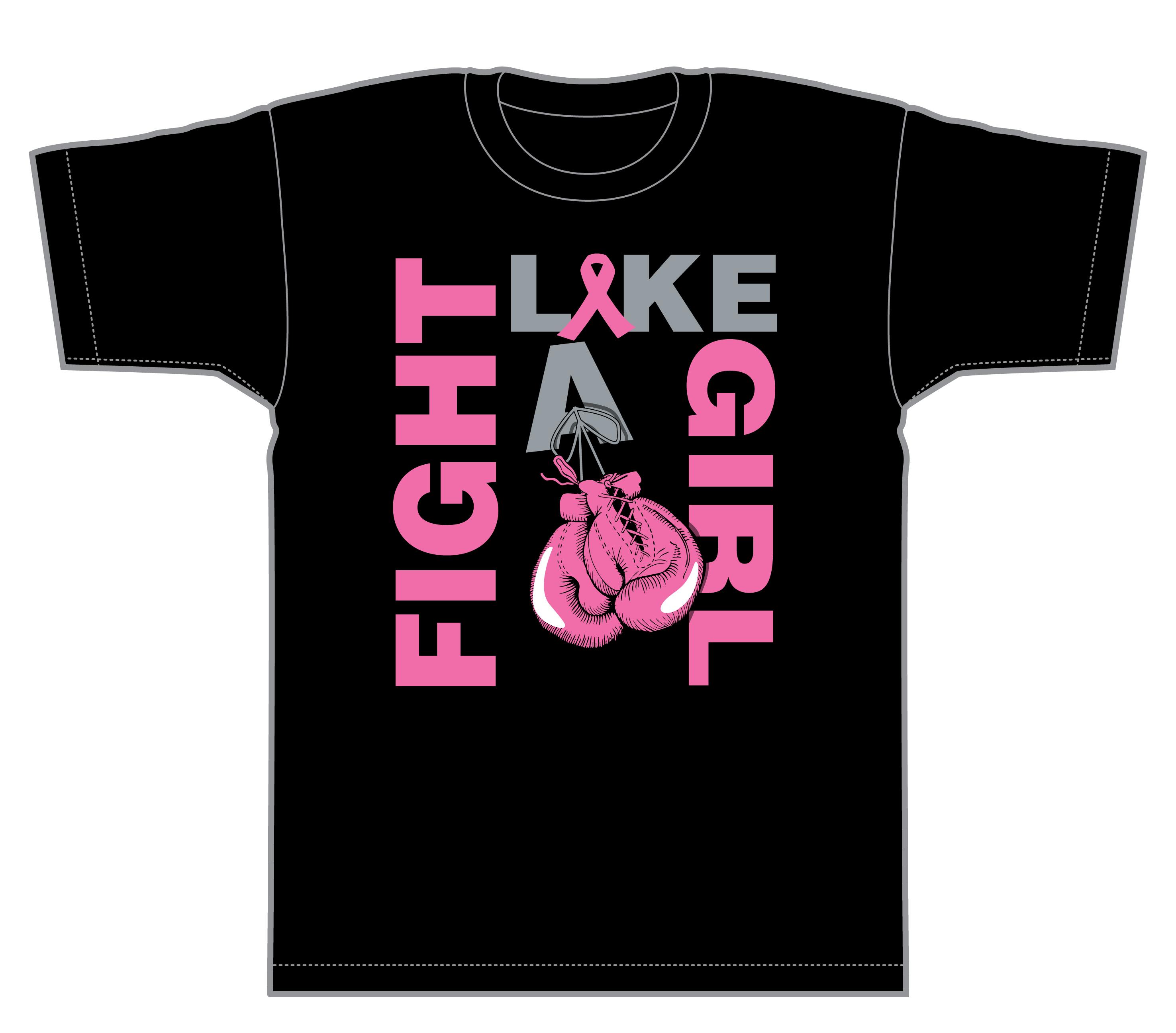 Bryan Rocha - Fight like a girl - t-shirt design 0c012db7b