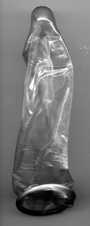 An unrolled condom