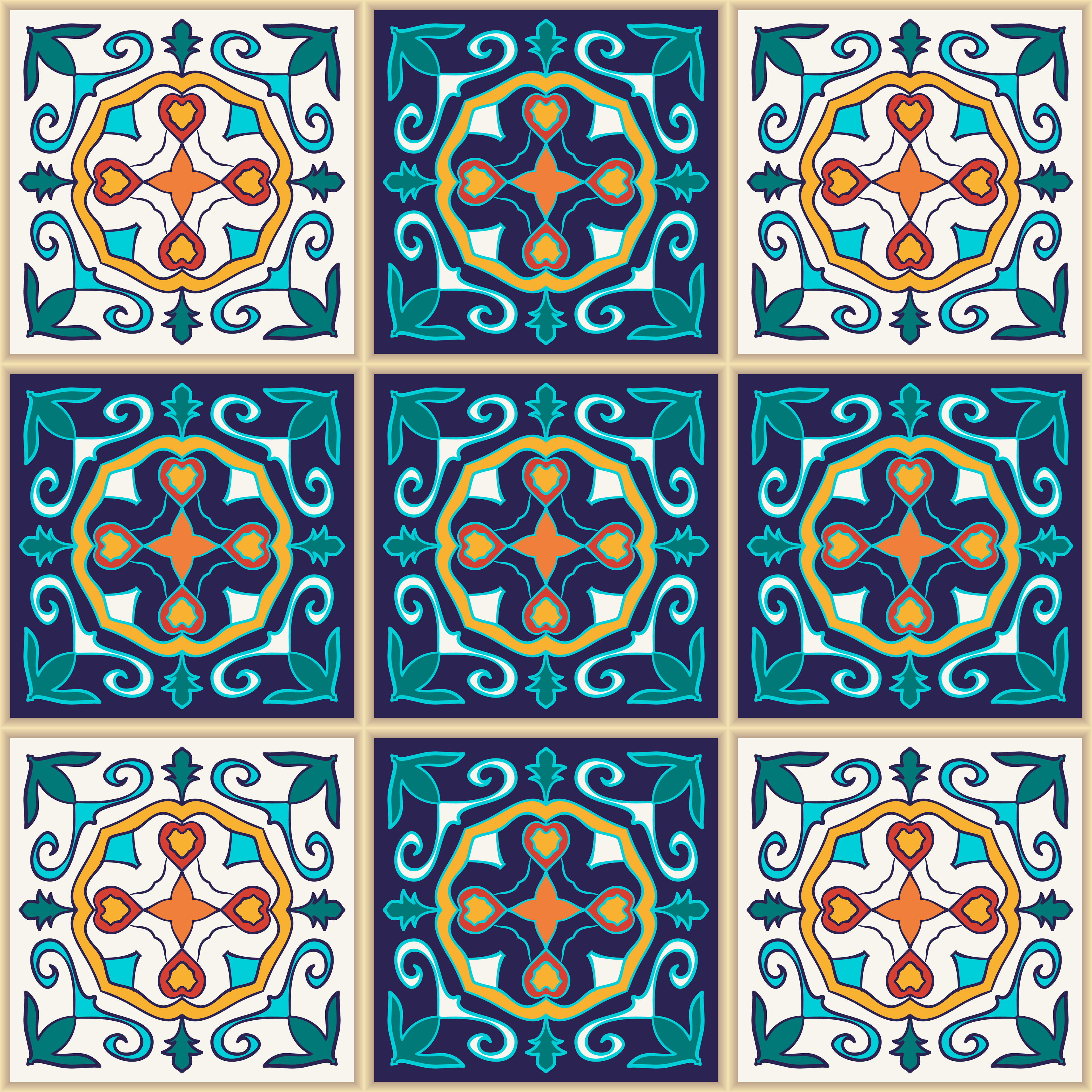 Portuguese tiles and patchwork patterns on Behance