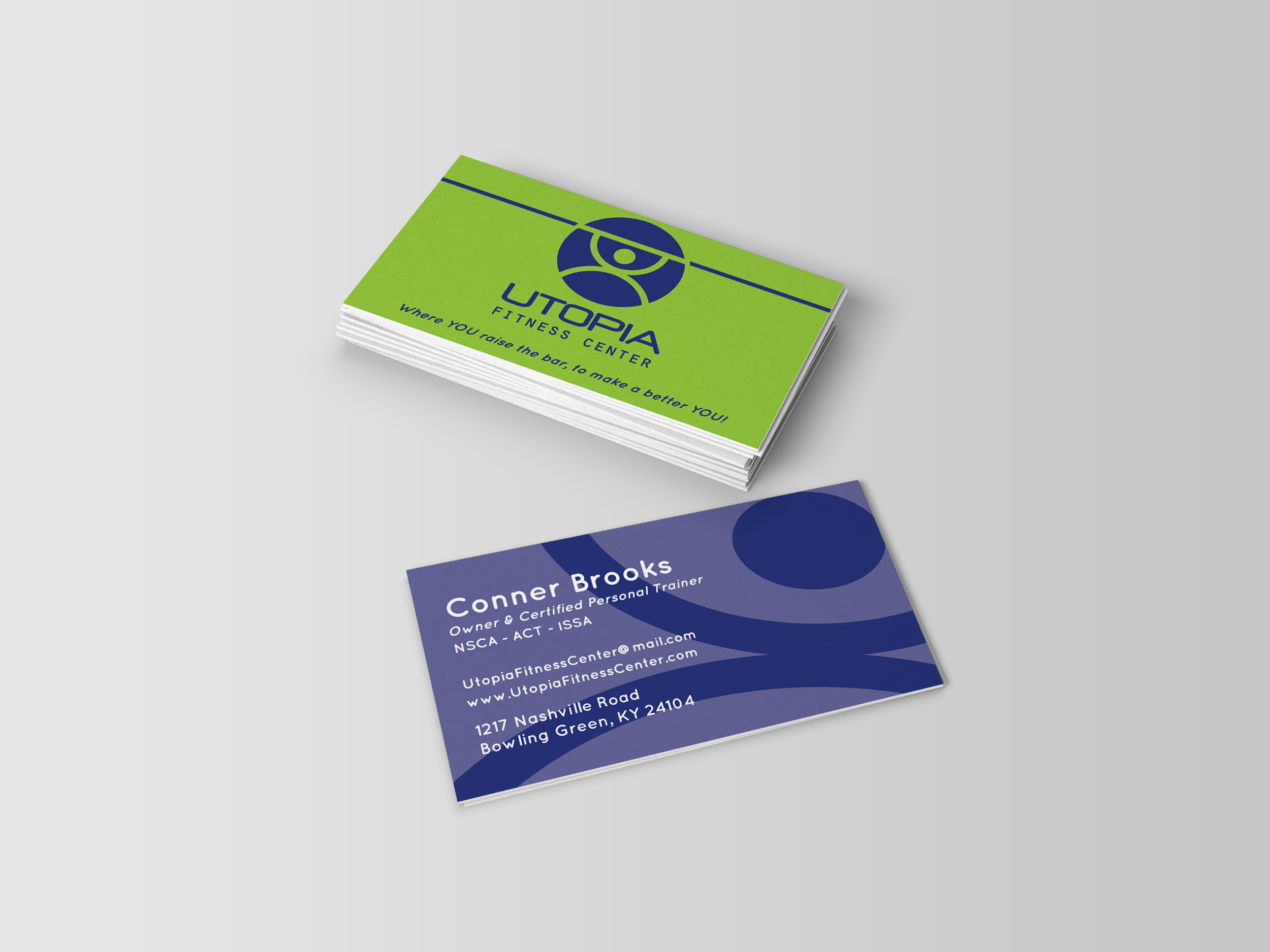 Kristina Peebles - Utopia Fitness Center Business Cards