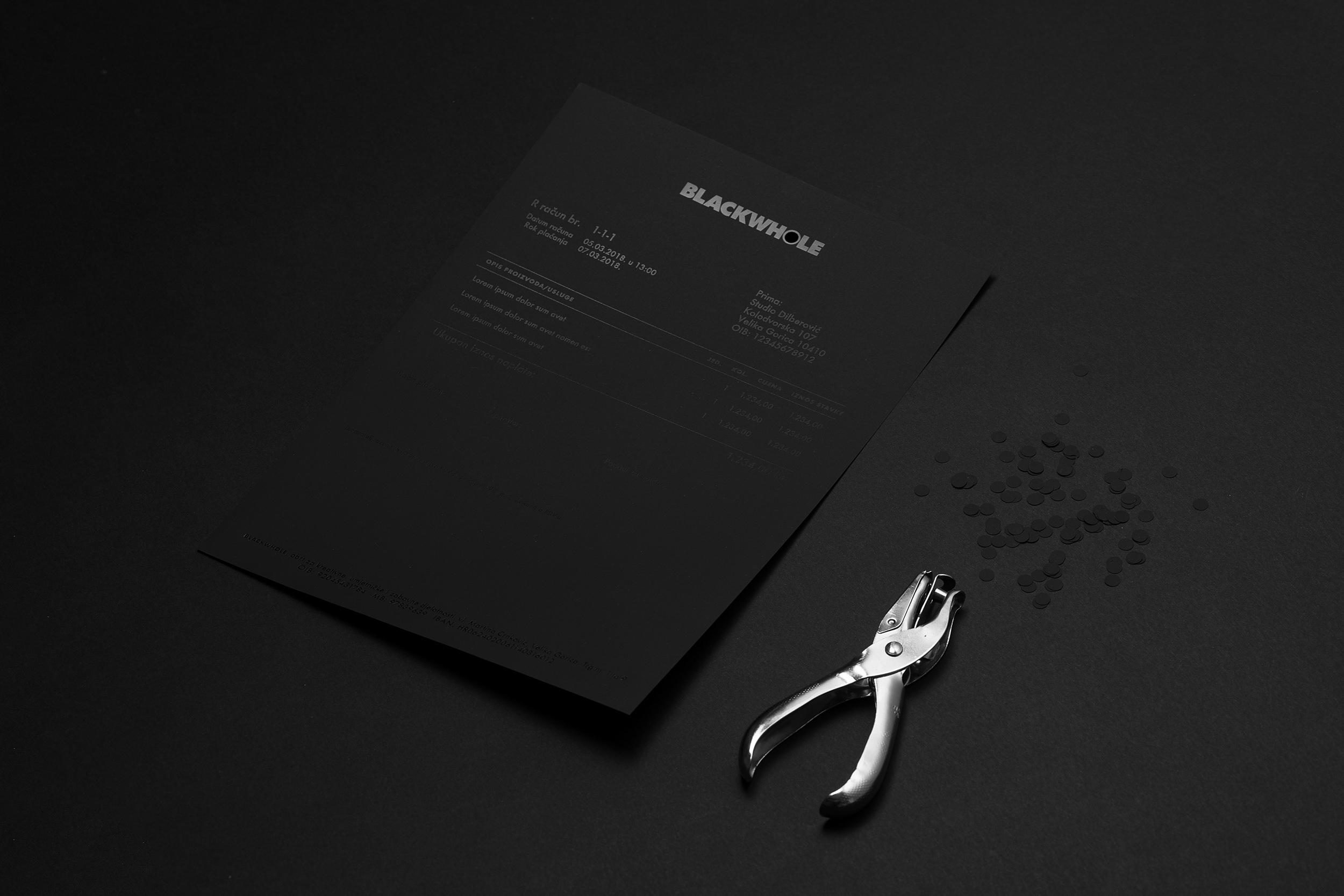 Black On Black BLACKWHOLE Branding By Ivan Dilberovic