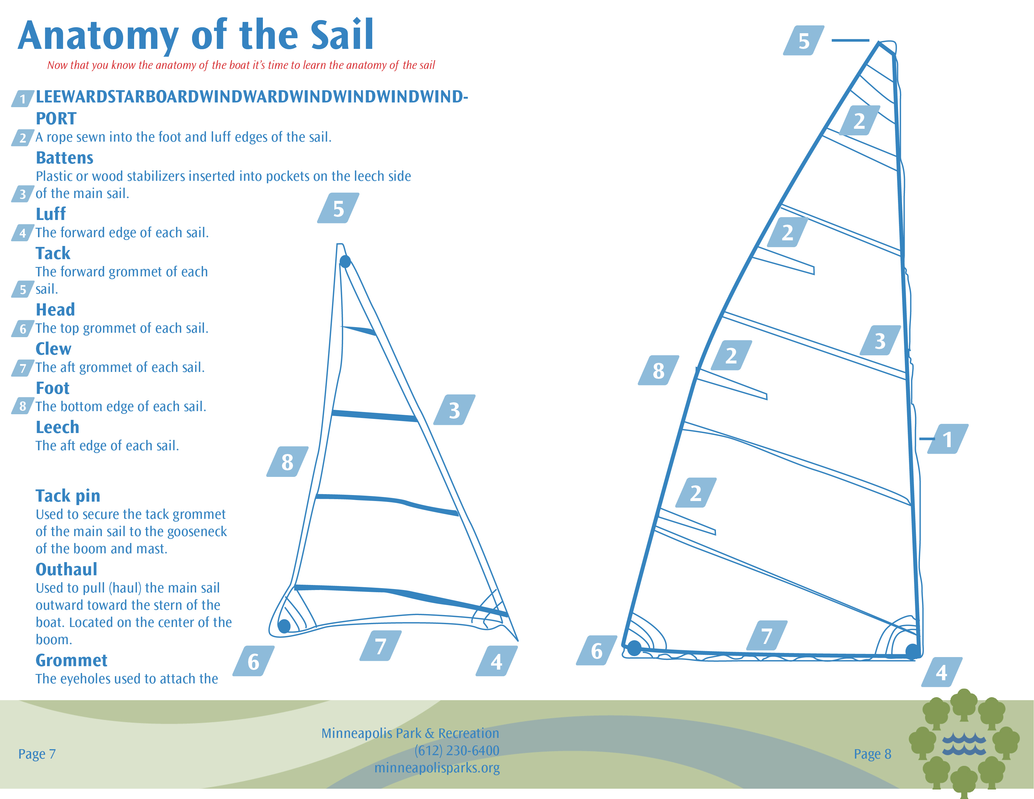 Sailing Camp Brochure Minneapolis Park And Recreation On Behance