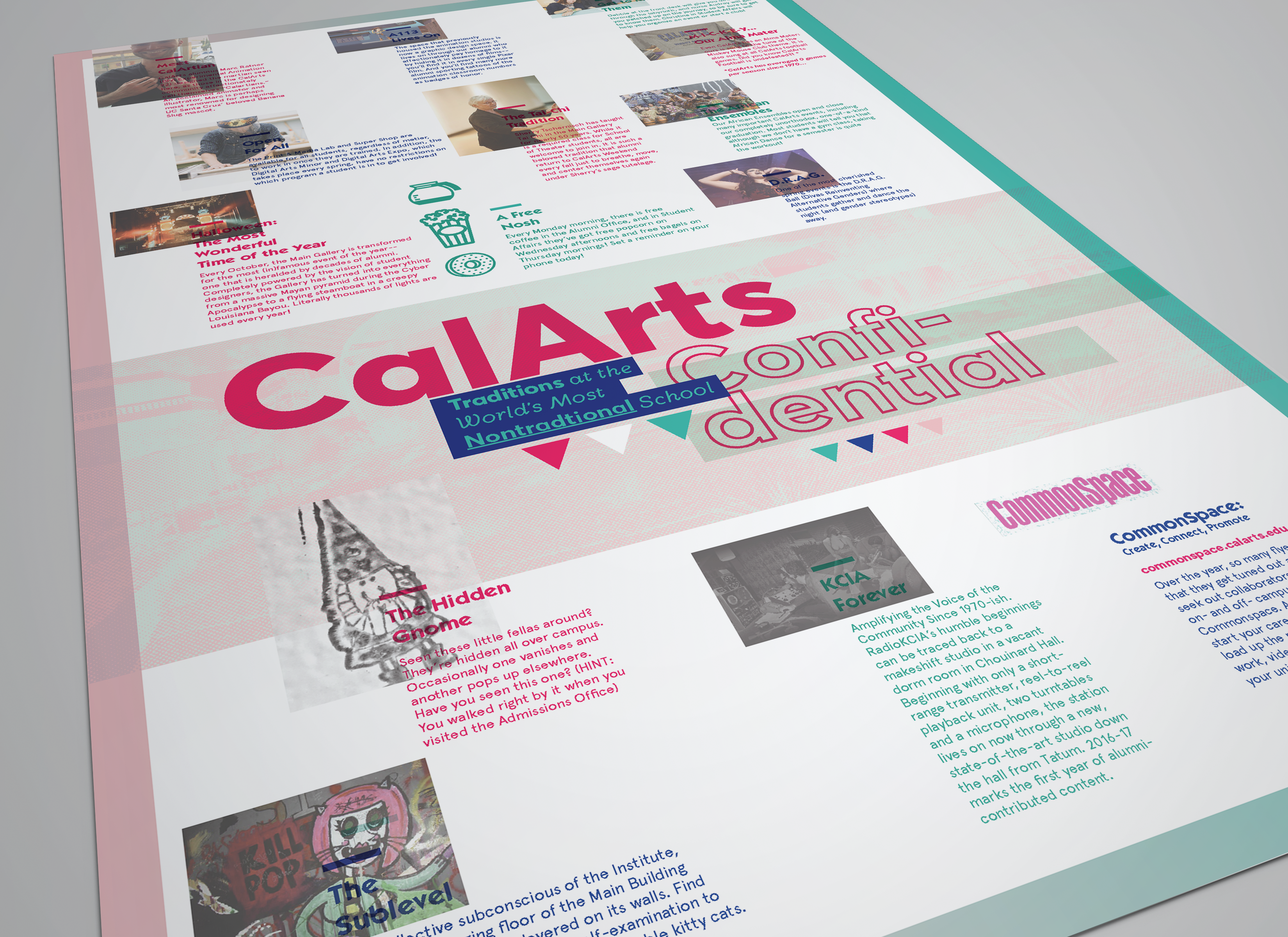 CalArts Confidential Brochure/Poster on Behance