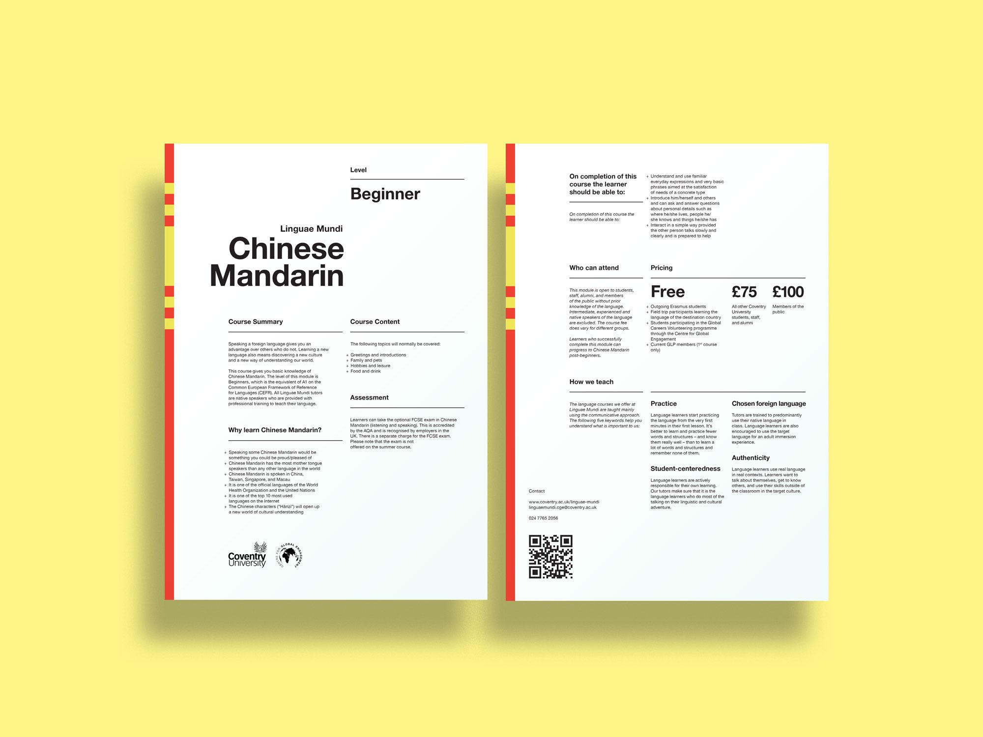 Language Classes Course Description On Behance