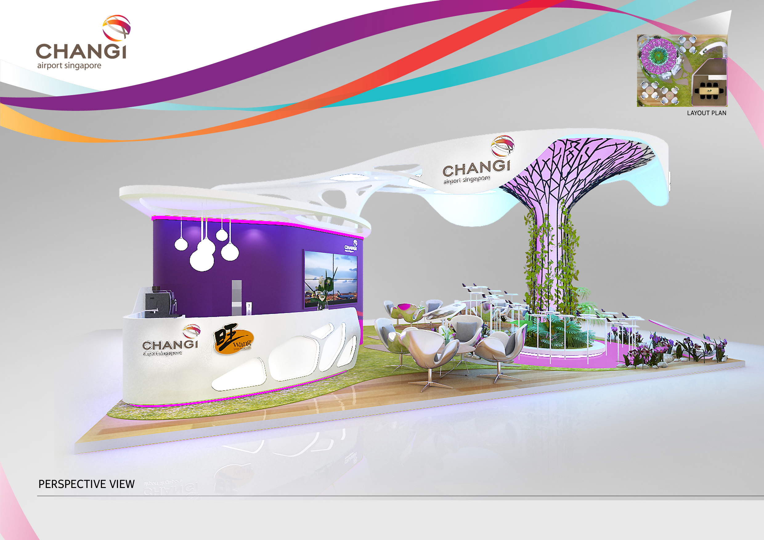 changi airport on behance