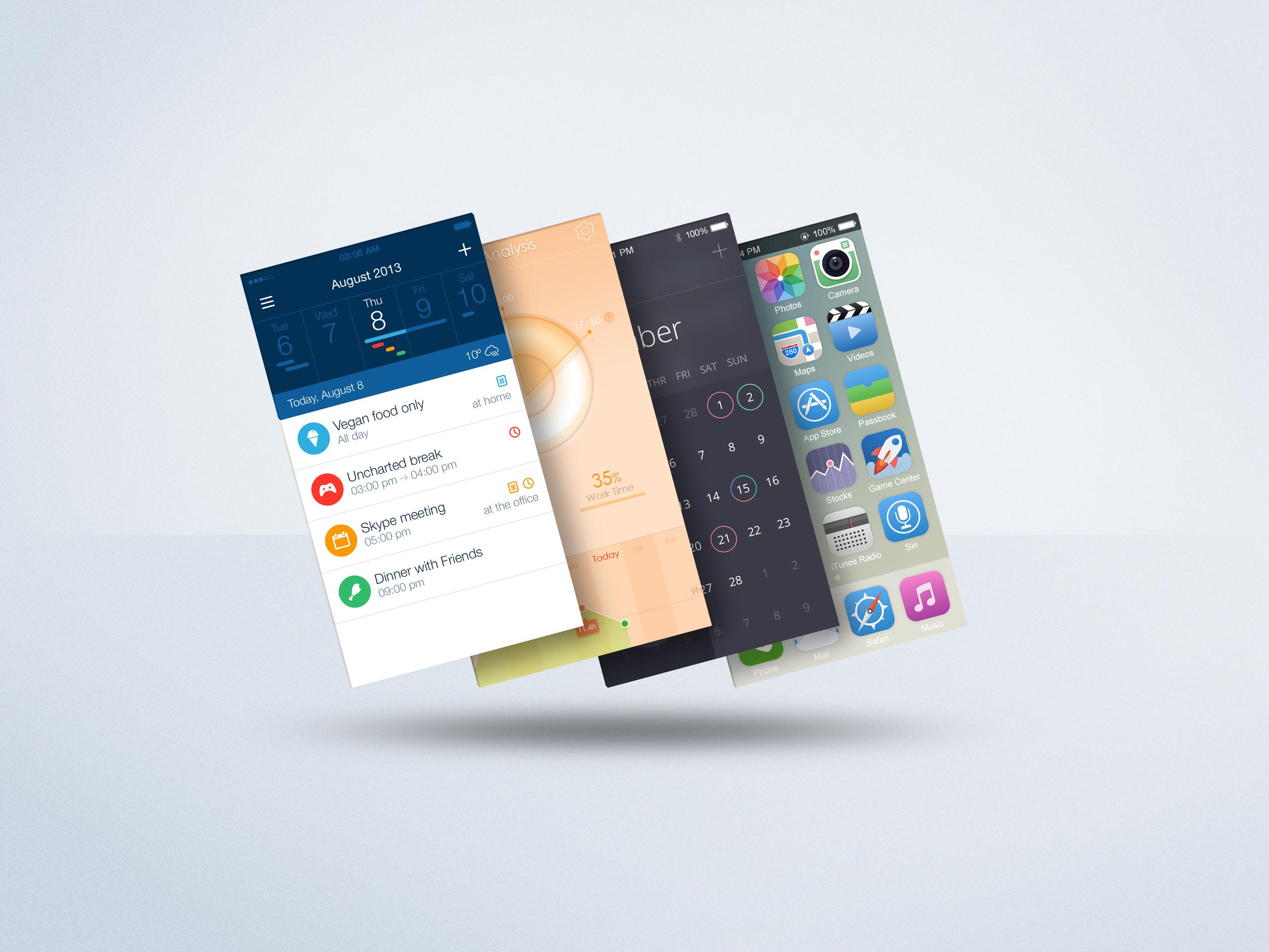 Floating Mobile Display Mock-Up PSD Freebie on Behance