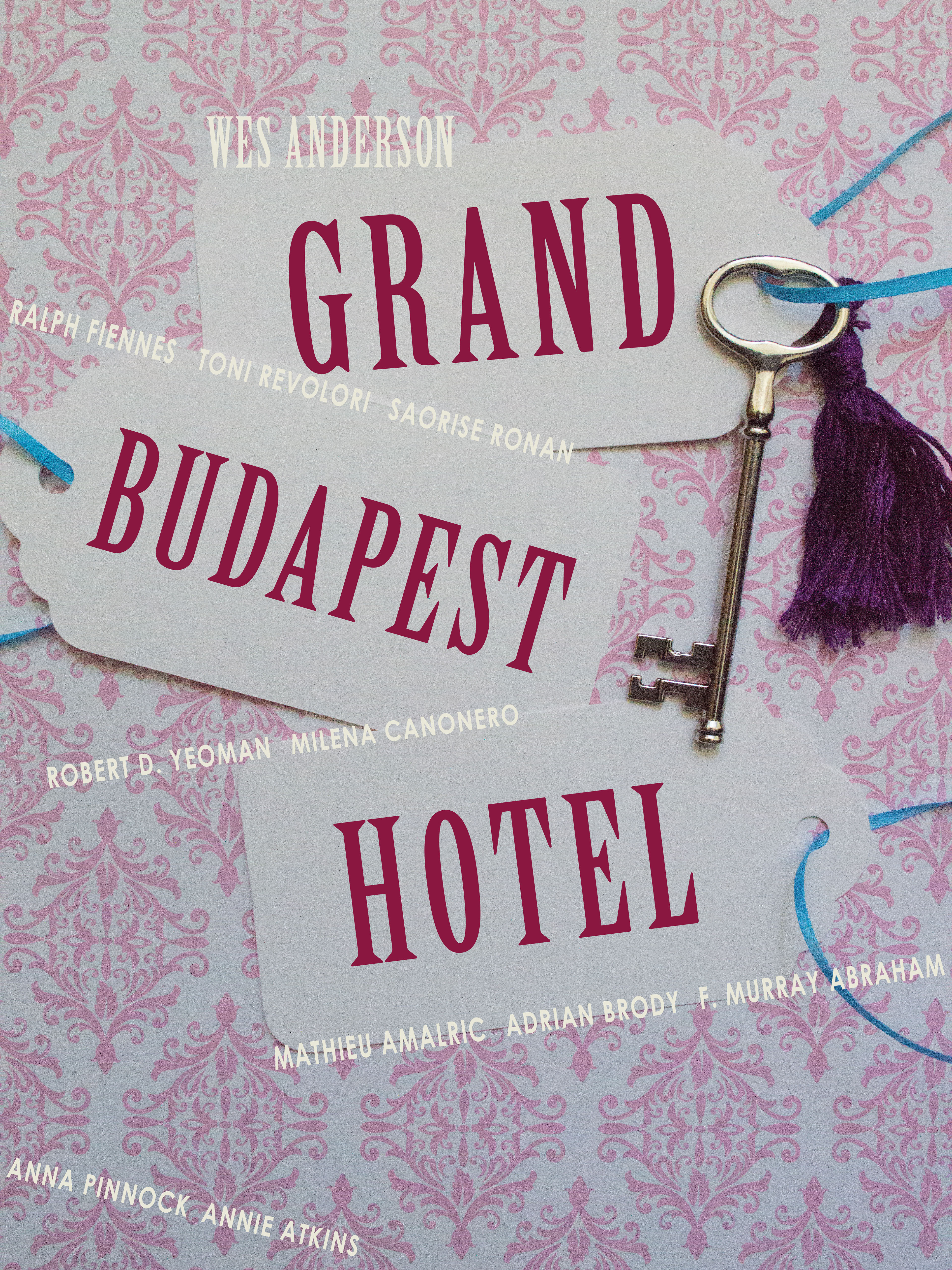 Poster design key - Project Design A Poster For The Wes Anderson Film The Grand Budapest Hotel My Poster Design Consists Of A Photograph Of A Key With A Tassel And Key Cards