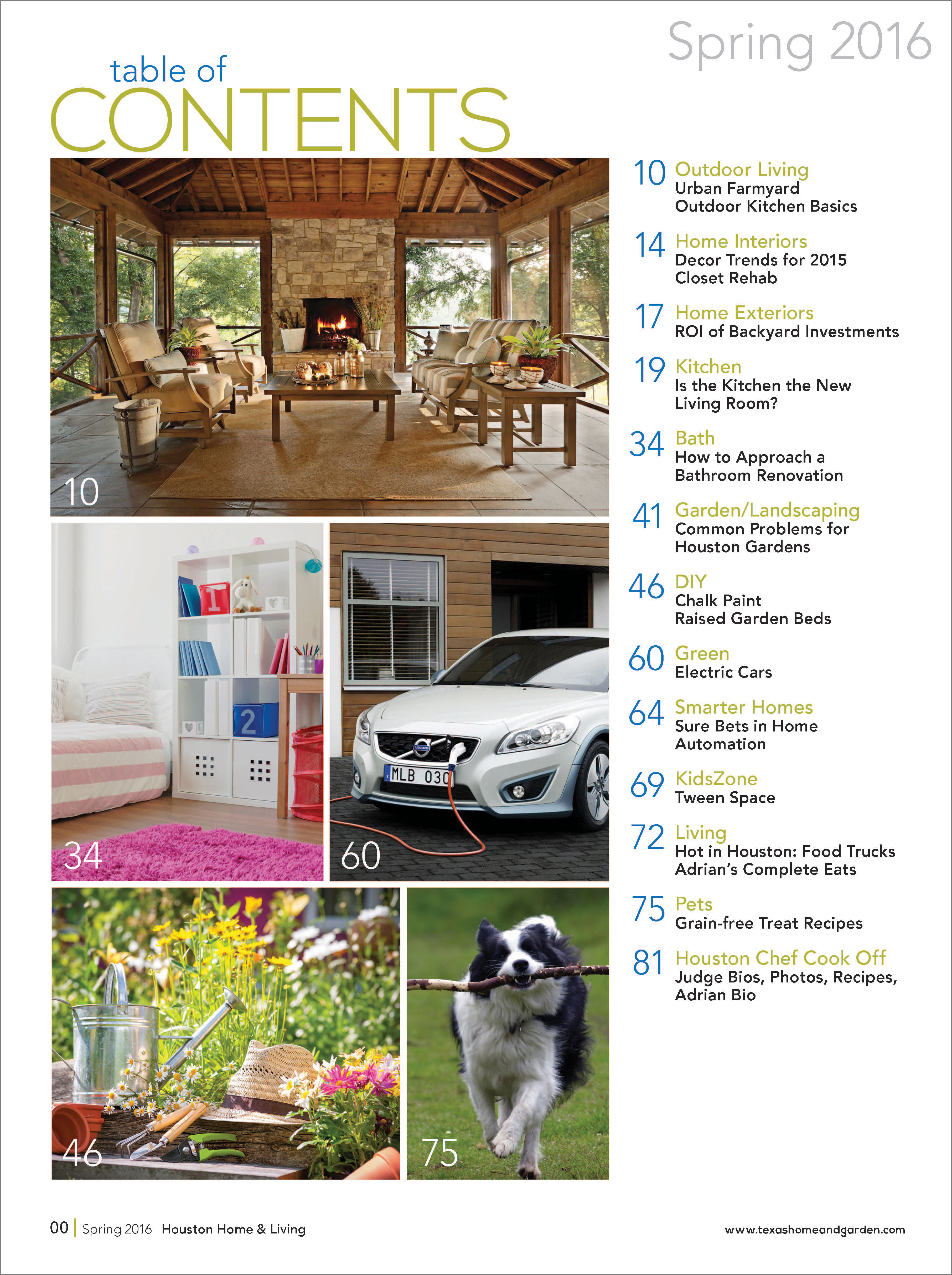 Design Concepts For Startup Houston Home And Garden Magazine.
