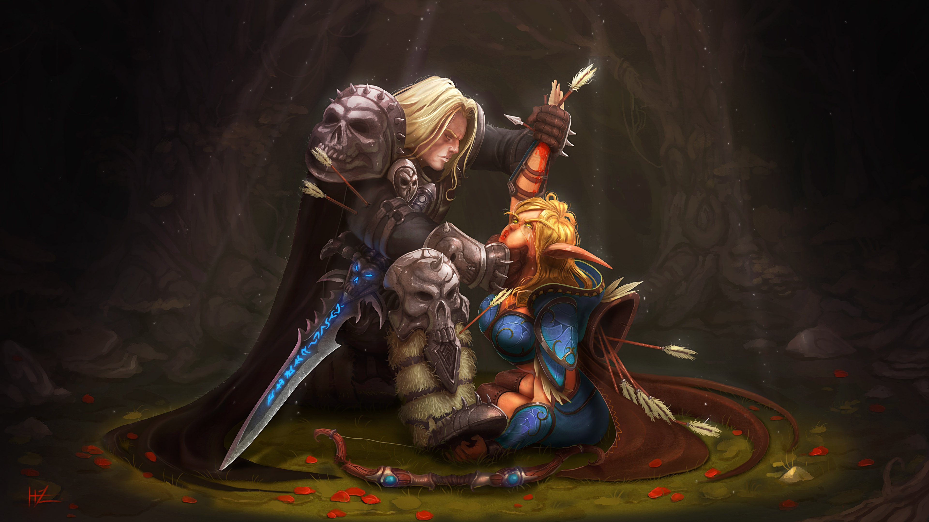 Annoyed By Her Defiance Arthas Would Not Grant The Peace Of Death However But Instead Twisted Elven Spirit Into A Banshee