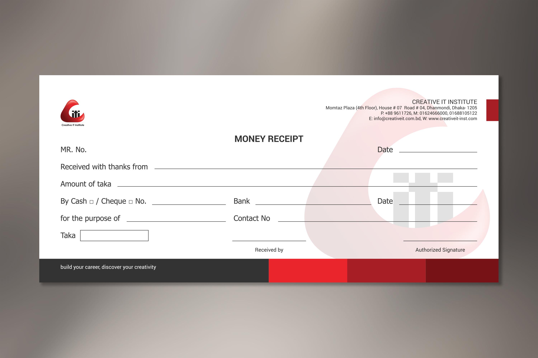 CORPORATE Money Receipt on Behance