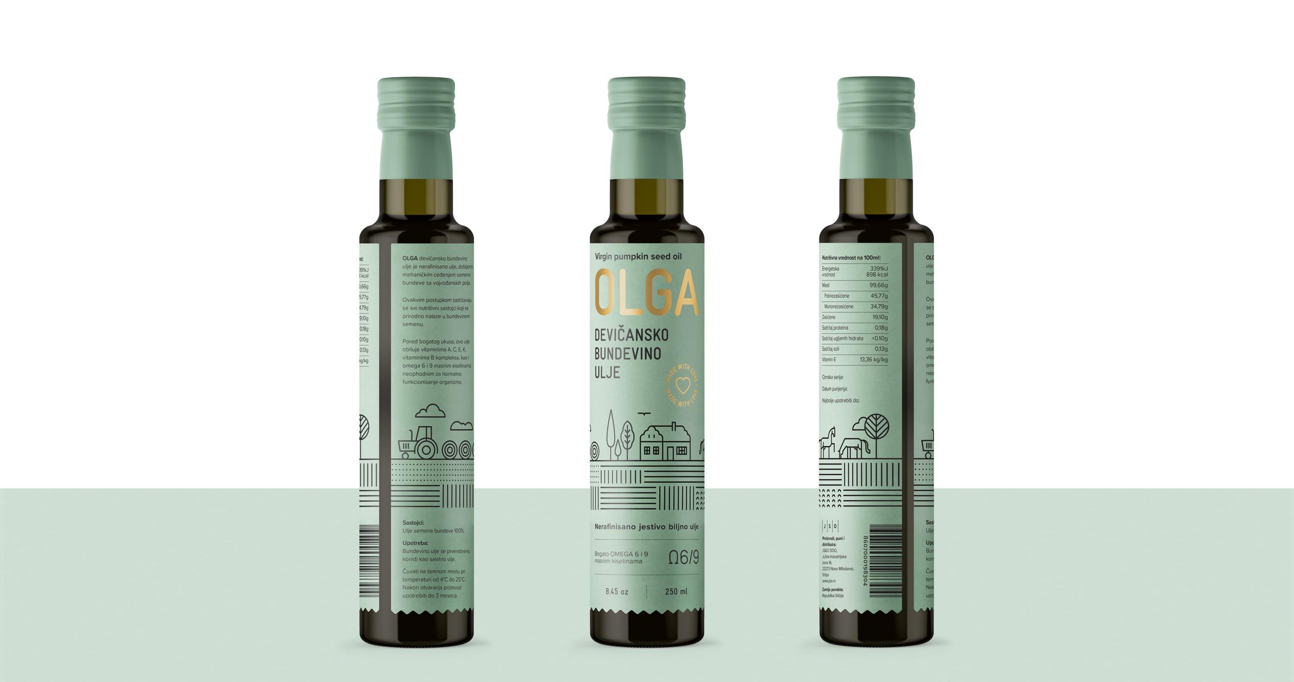 Olga Pumpkin Seed Oil Packaging Design by Metaklinika