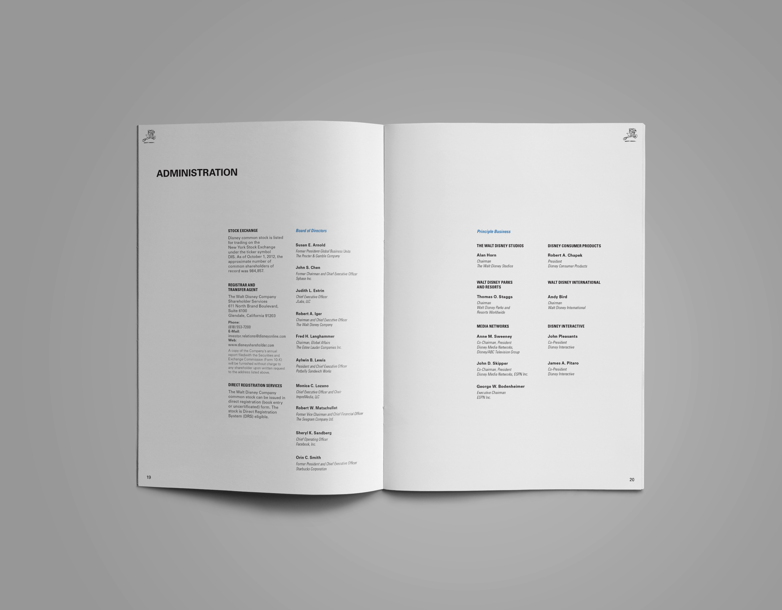 Walt disney annual report redesign on behance buycottarizona Choice Image