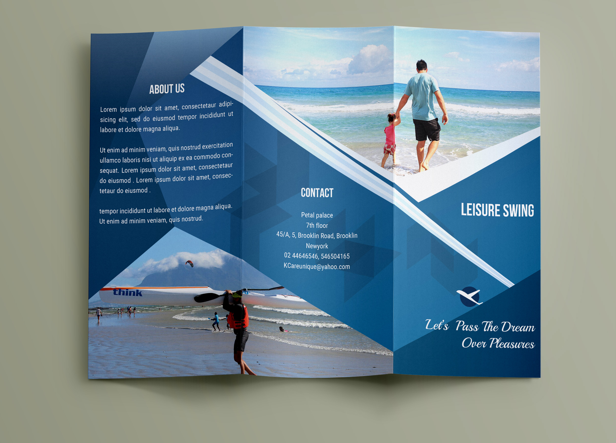 Free Travelling Trifold Brochure Template On Behance