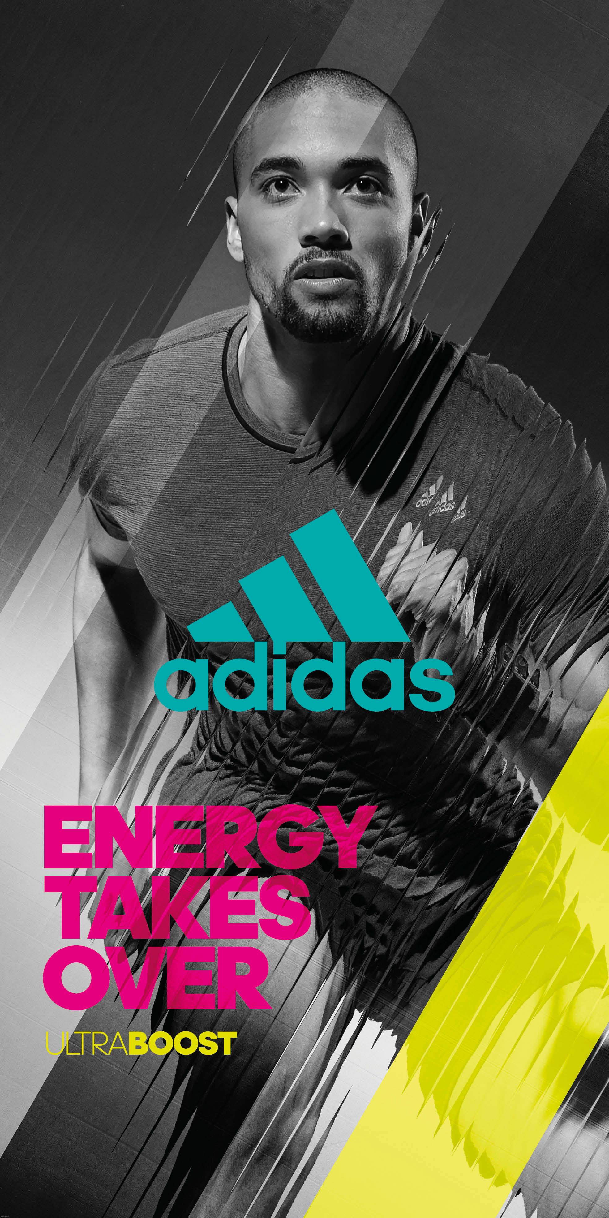 adidas running poster