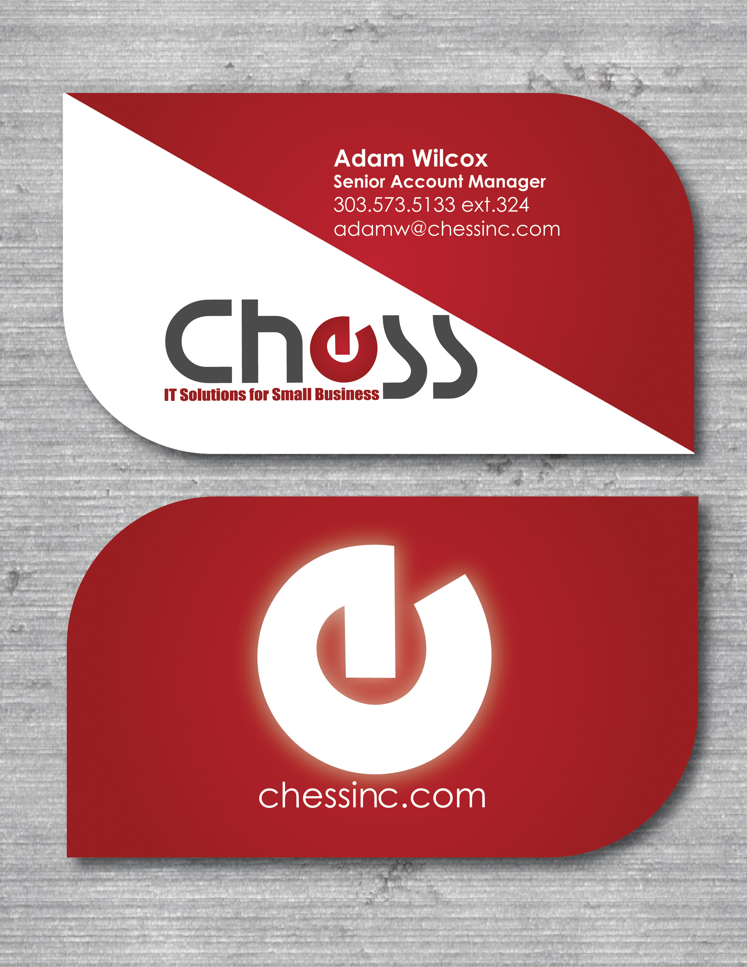 Jonathan Gest - Chess INC. Business card redesign