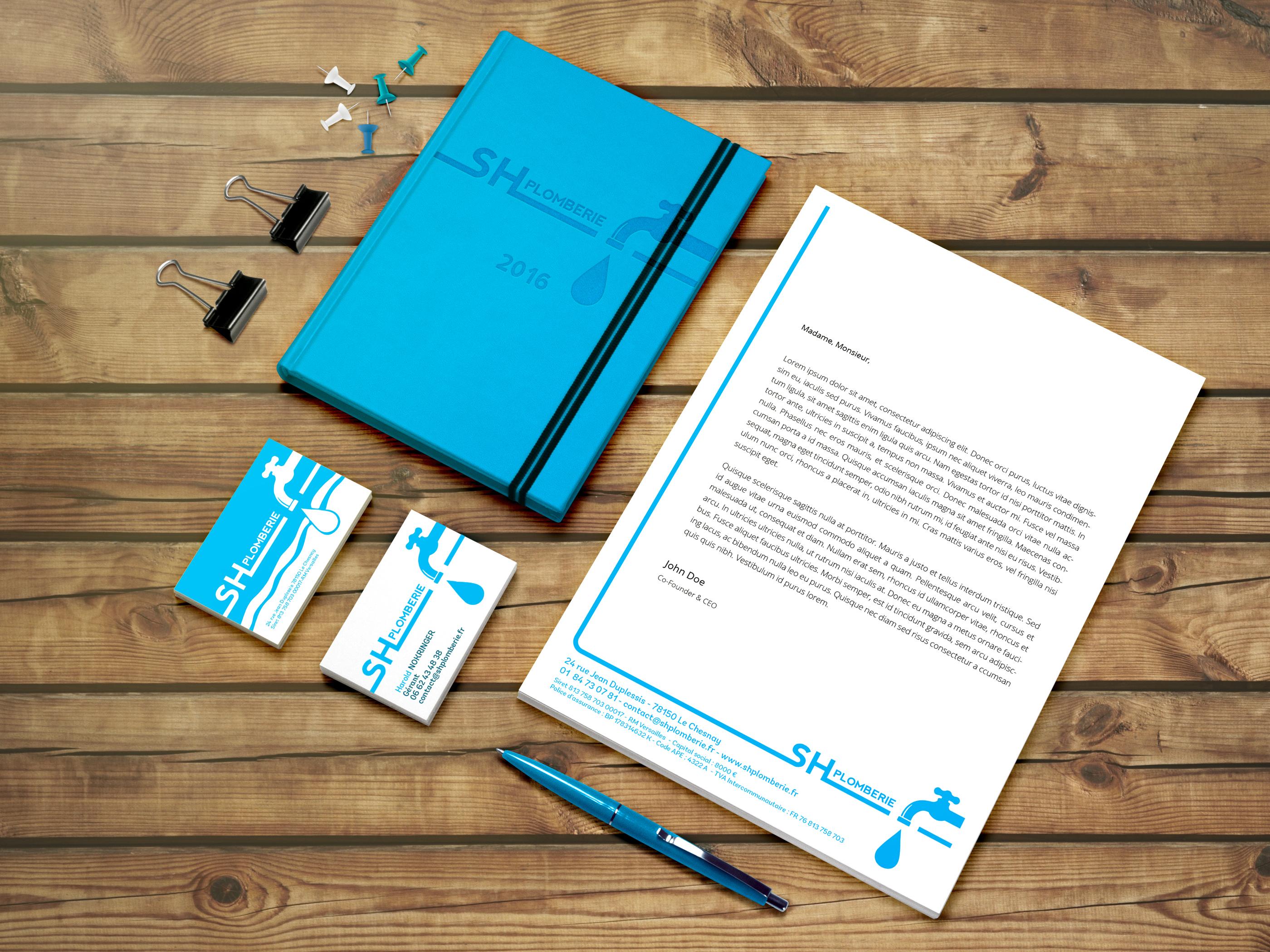 Creation Du Logo Et De La Papeterie Cartes Visite Entete Carton Correspondance