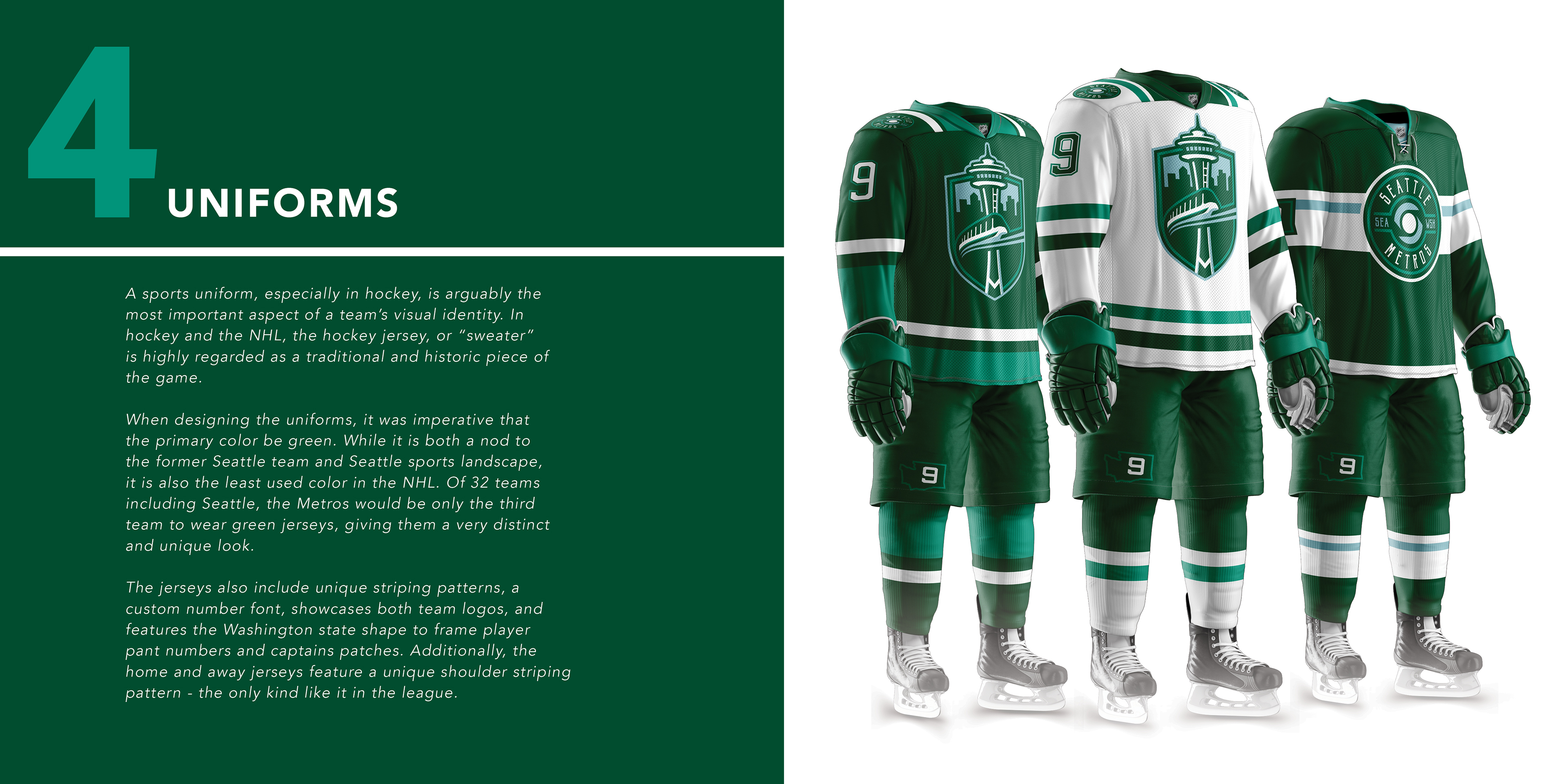 Seattle Metros - NHL Franchise Branding and Design on Behance 1c0738f3067