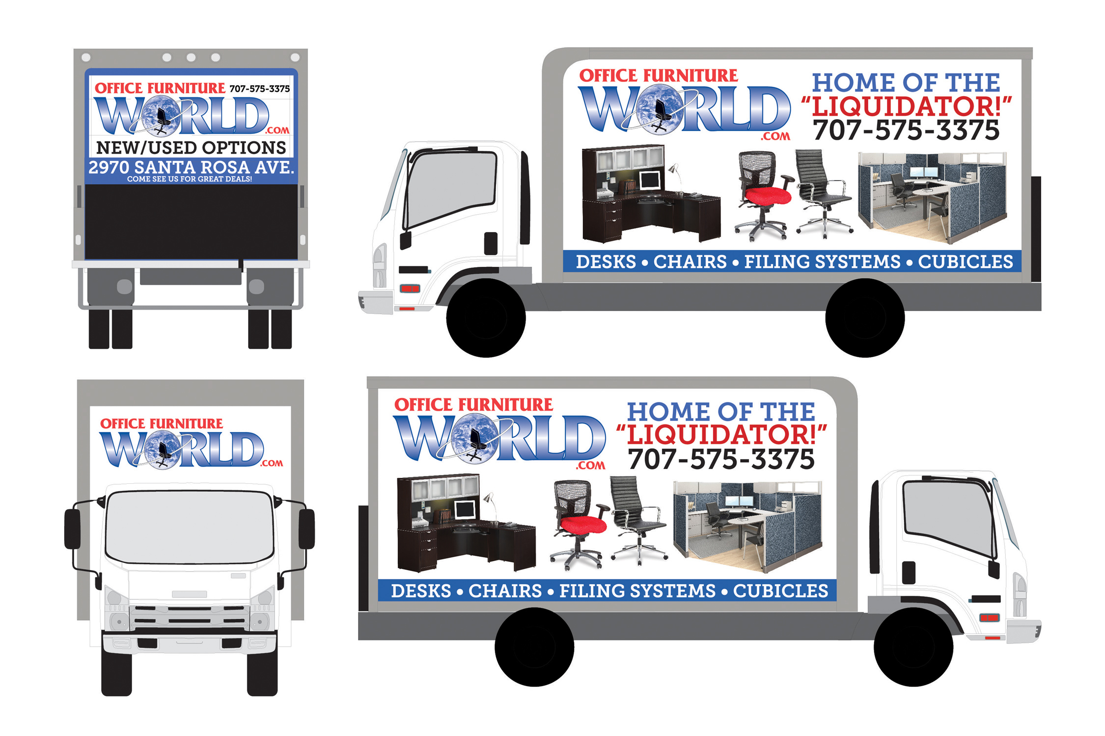 Office Furniture World Truck Wrap On Behance